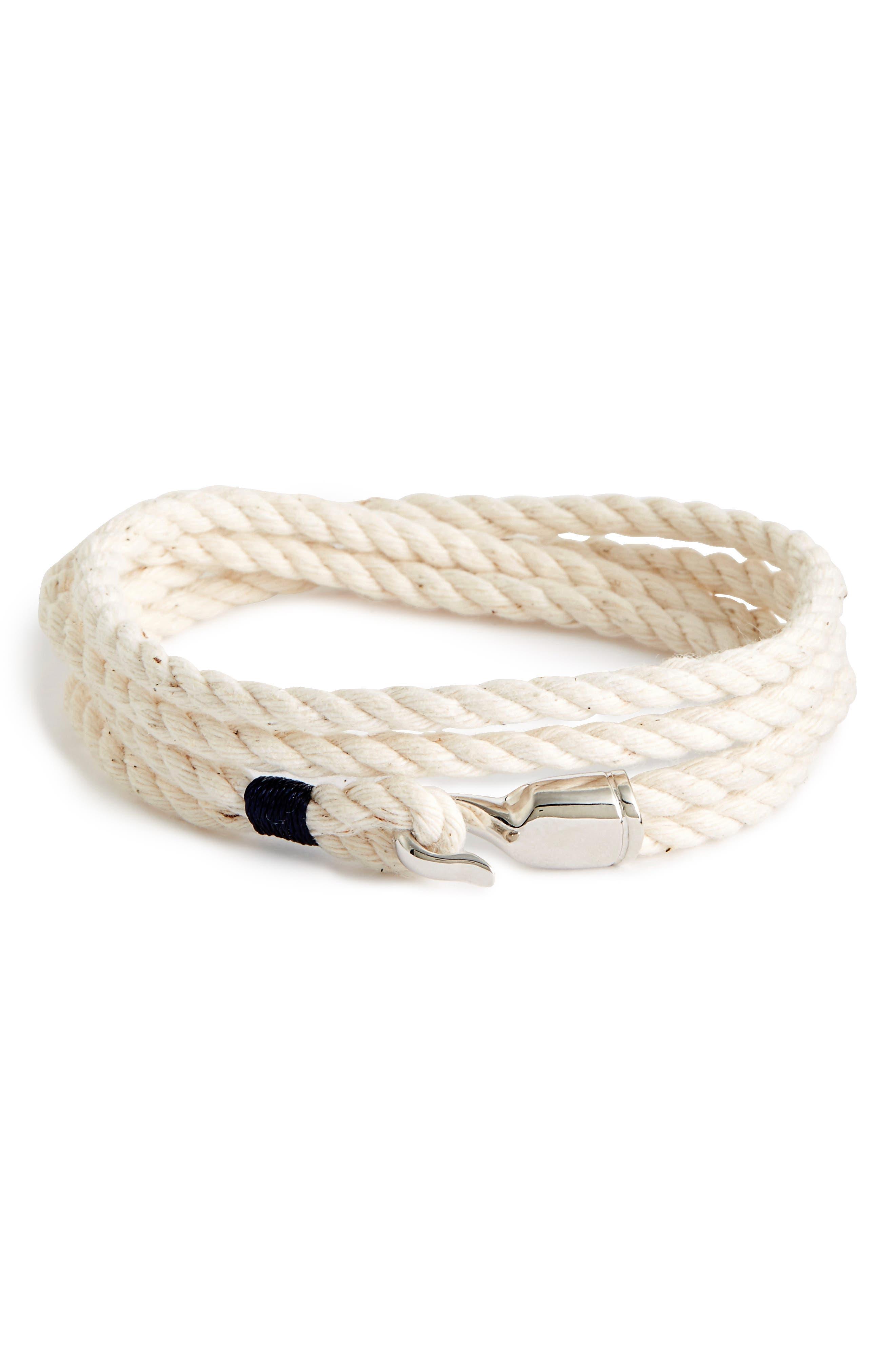 'Trice' Wrap Rope Bracelet,                         Main,                         color, Natural/ Gold