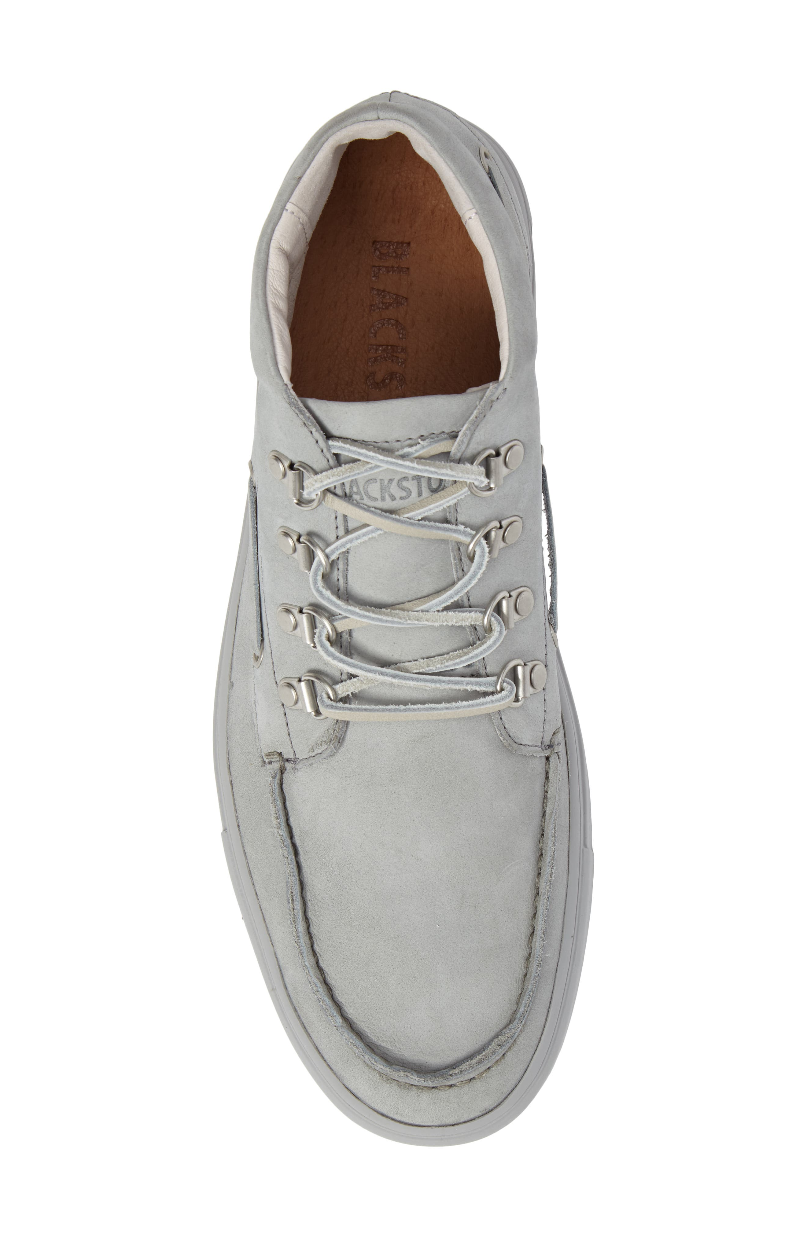 NM09 Mid Top Boat Sneaker,                             Alternate thumbnail 5, color,                             Limestone Leather