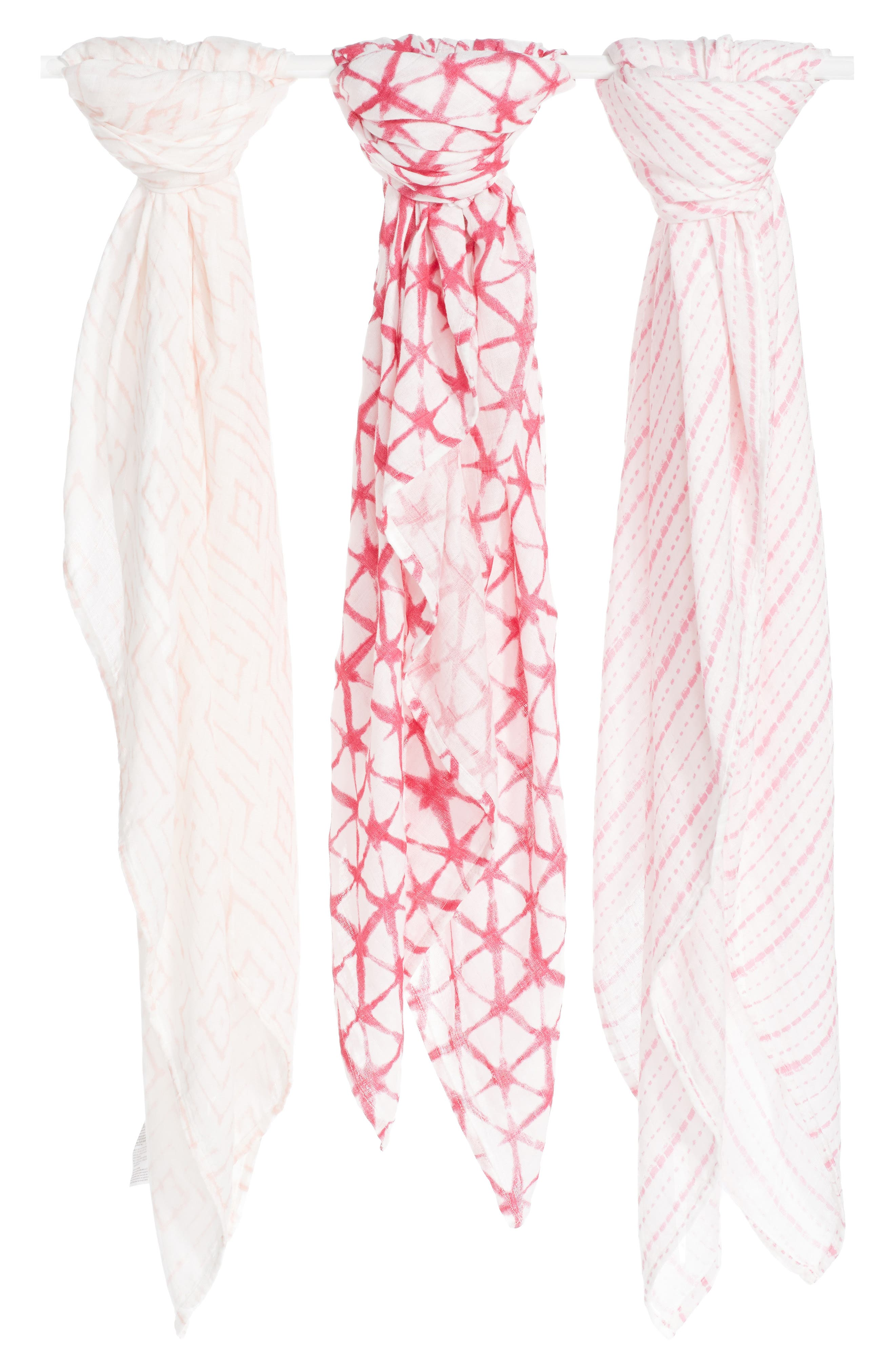 Main Image - aden + anais 3-Pack Silky Soft Swaddling Cloths