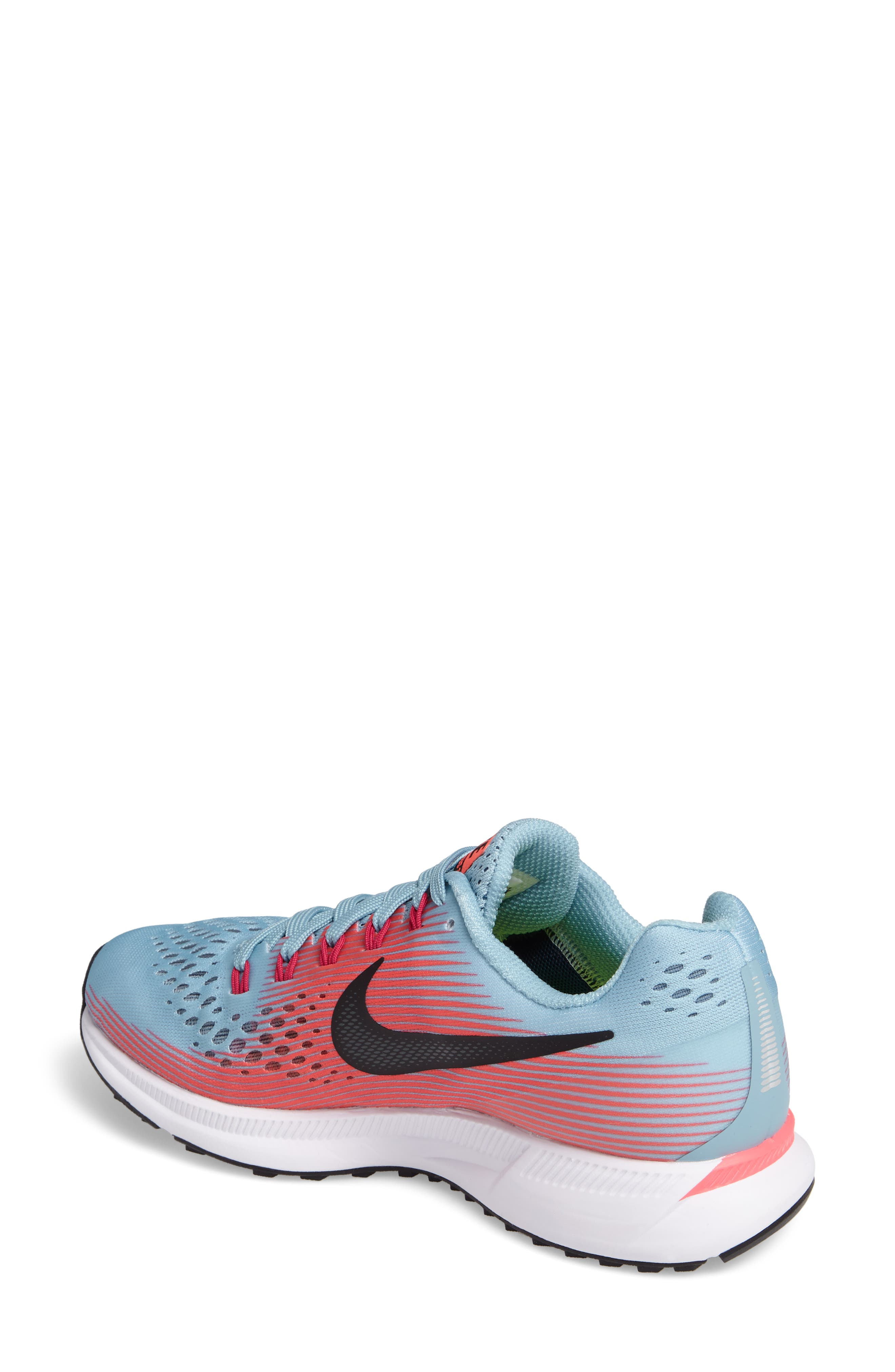 Air Zoom Pegasus 34 Running Shoe,                             Alternate thumbnail 2, color,                             Blue/ White/ Pink/ Fuchsia