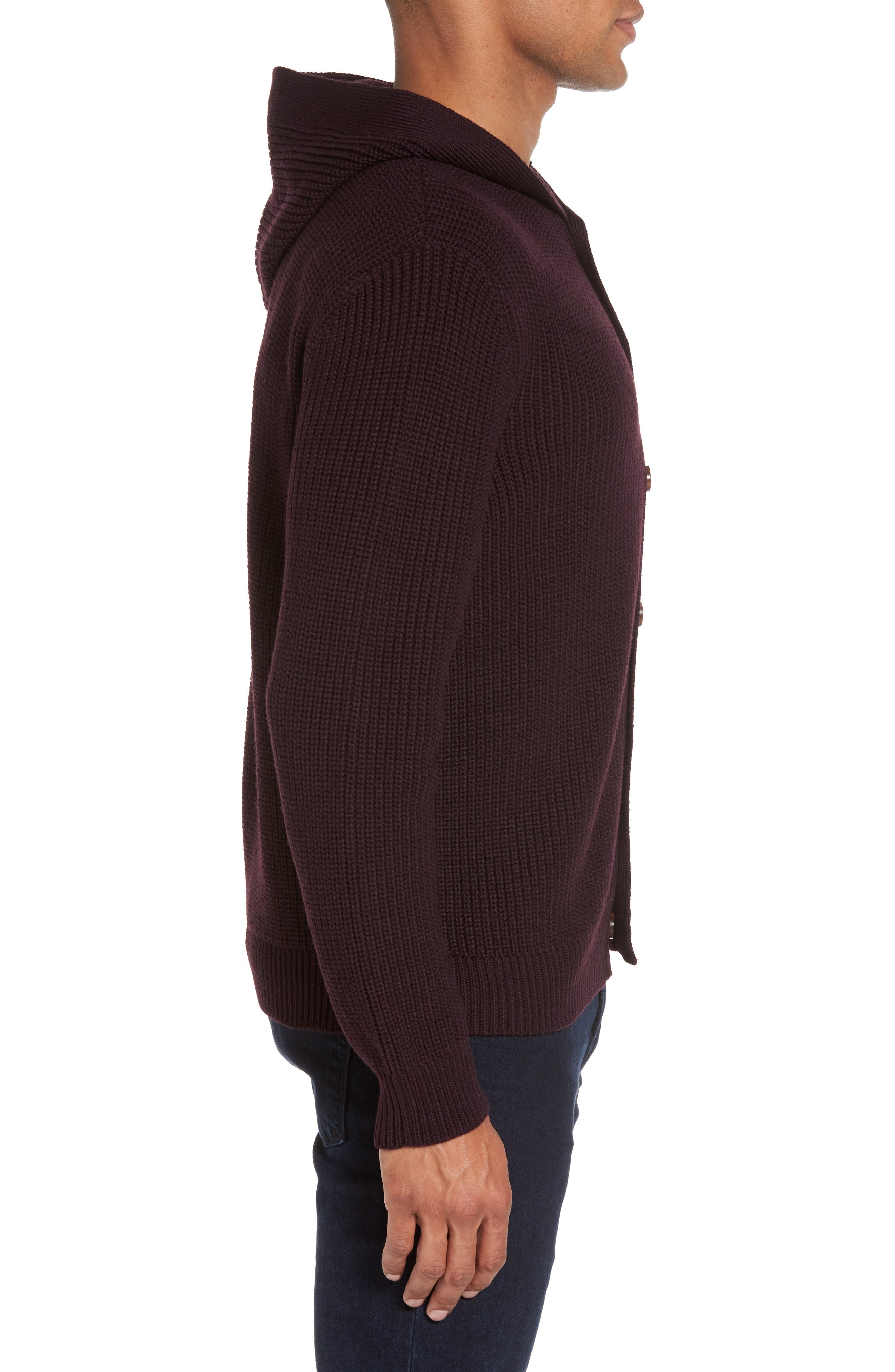 Alternate Image 3  - Eleventy Ribbed Hooded Sweater