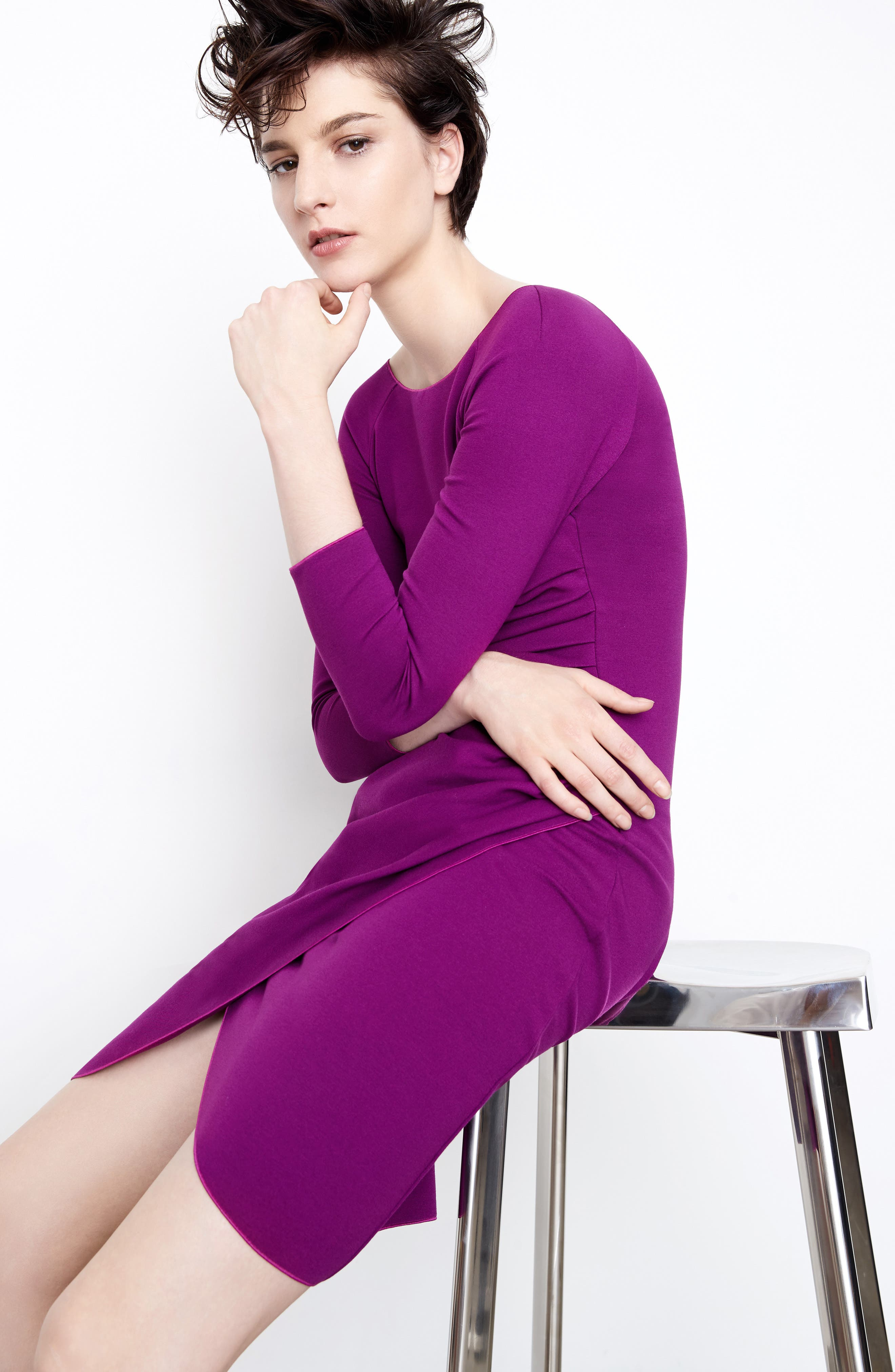 Alternate Image 7  - Armani Collezioni Milano Jersey Petal Hem Dress (Nordstrom Exclusive)