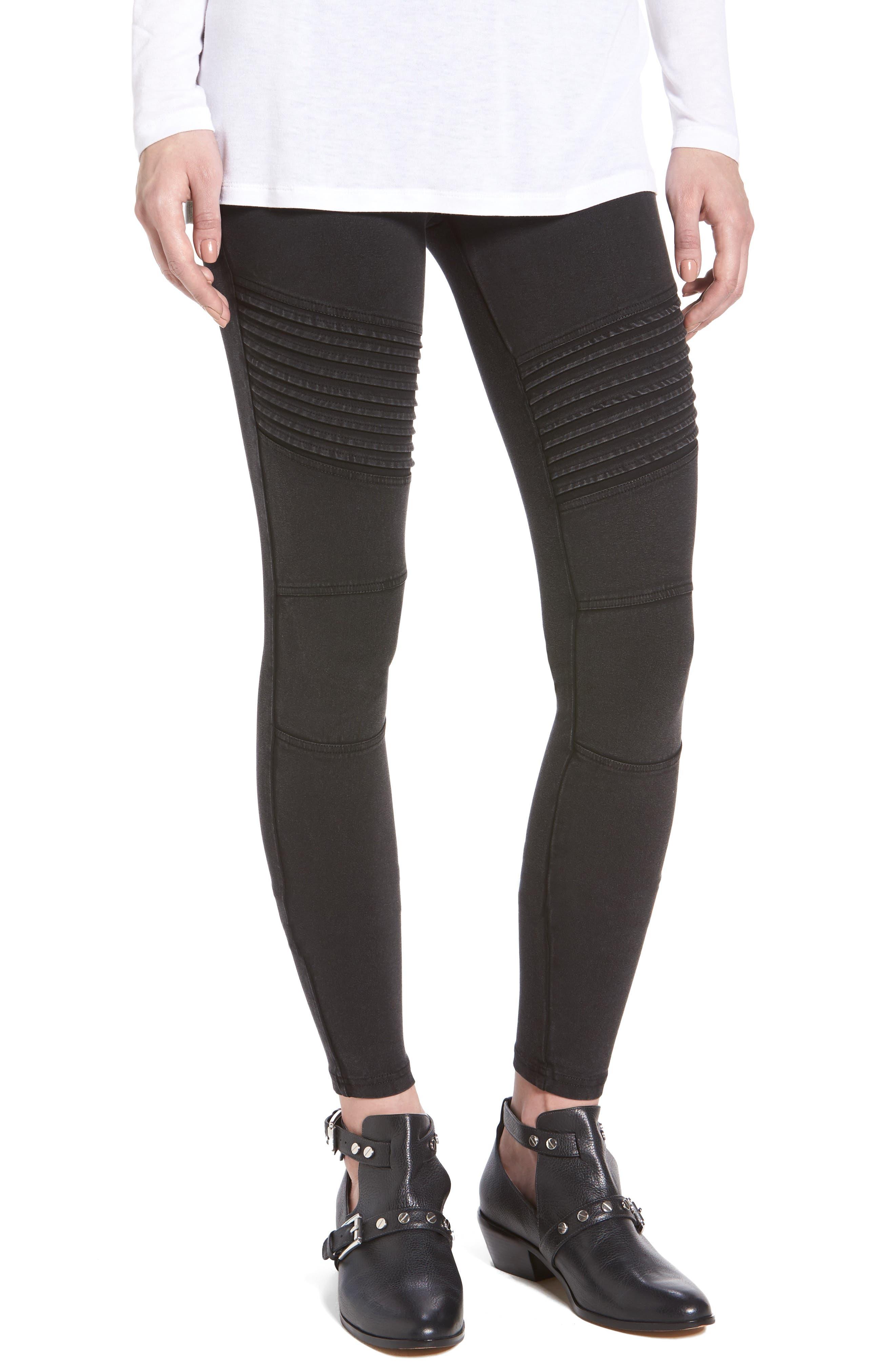Moto Leggings,                         Main,                         color, Black