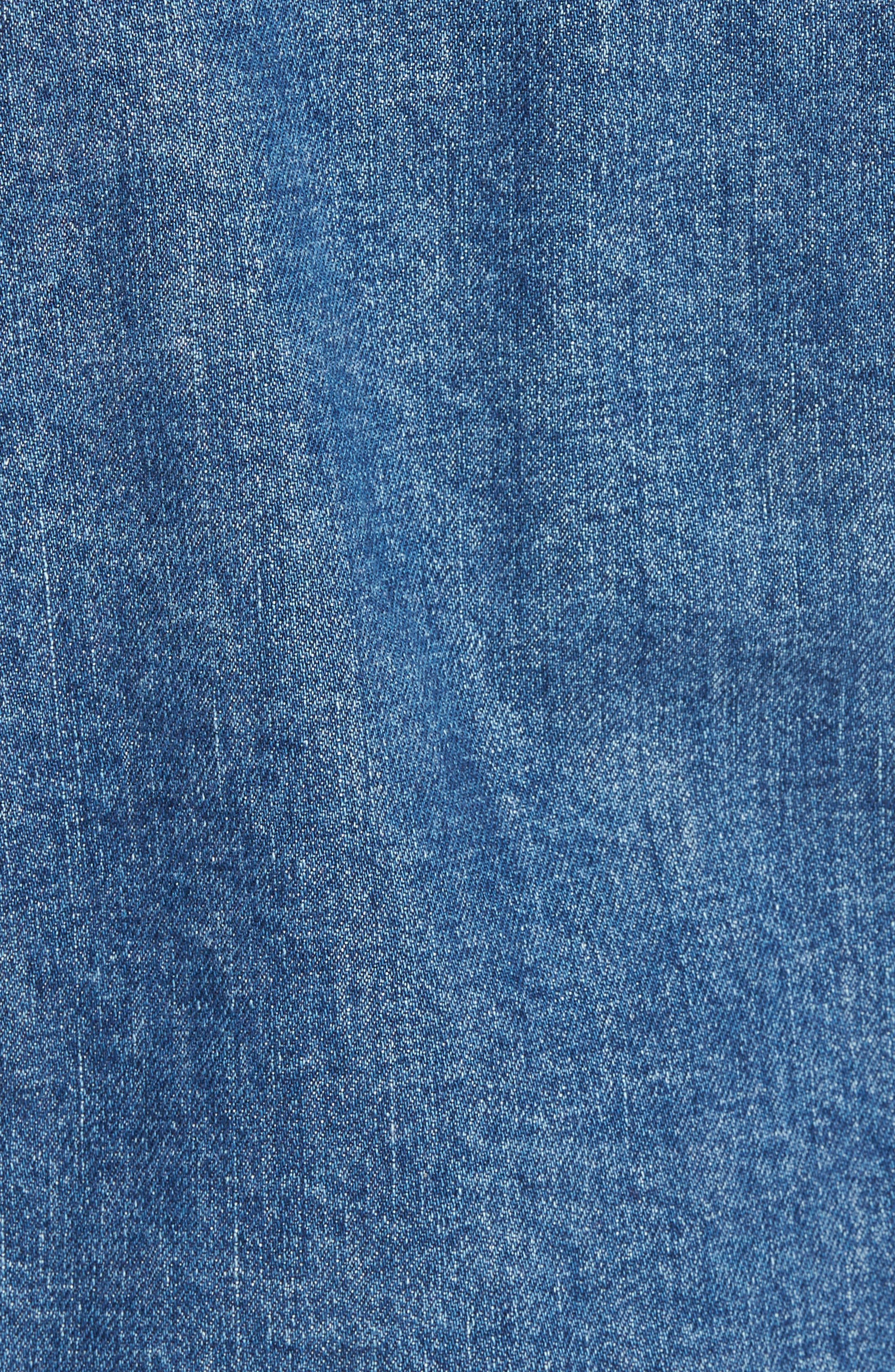 Garrison Crop Denim Jacket,                             Alternate thumbnail 5, color,                             Continuum