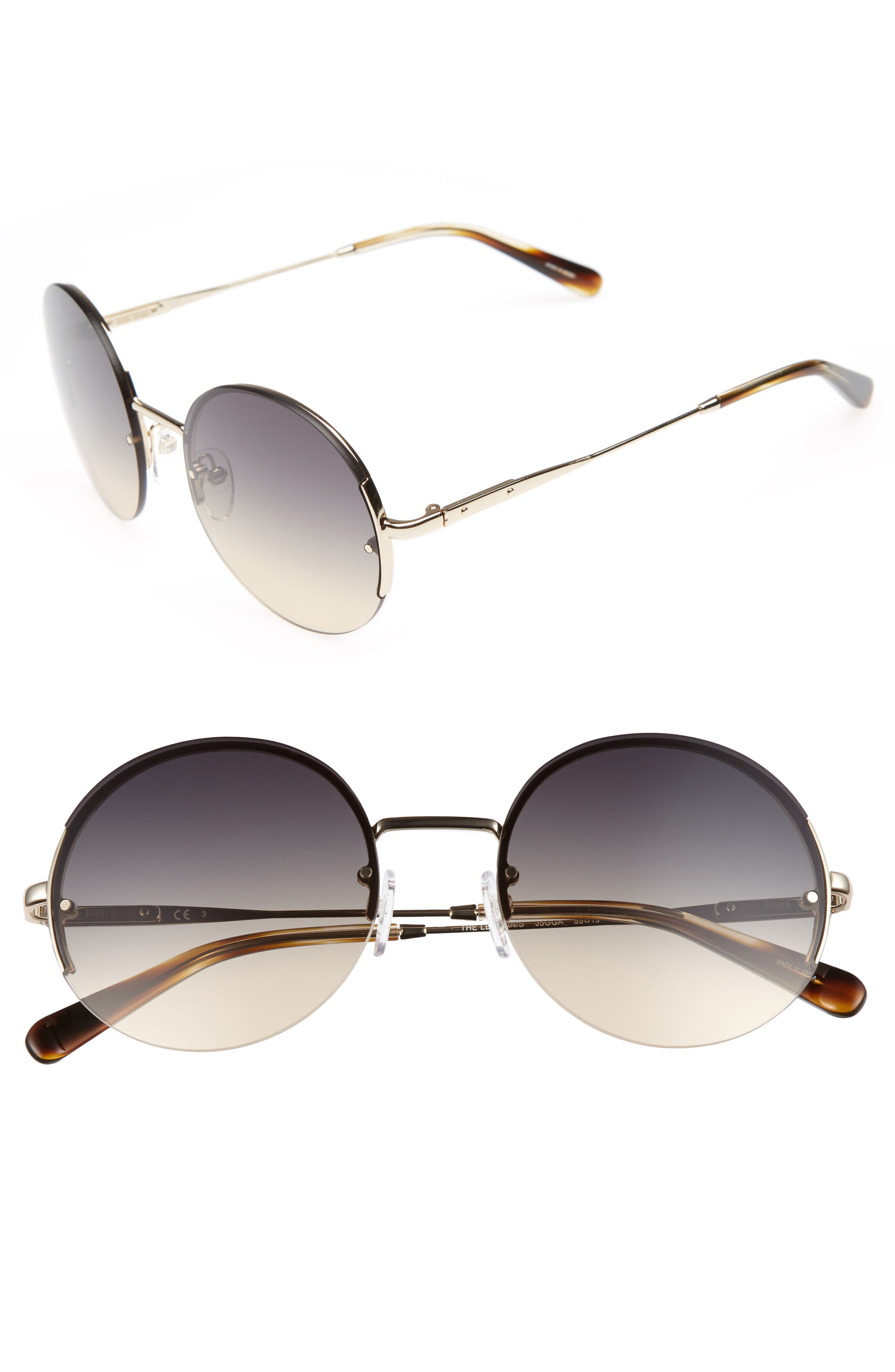 55mm Round Sunglasses,                         Main,                         color, Endura Gold