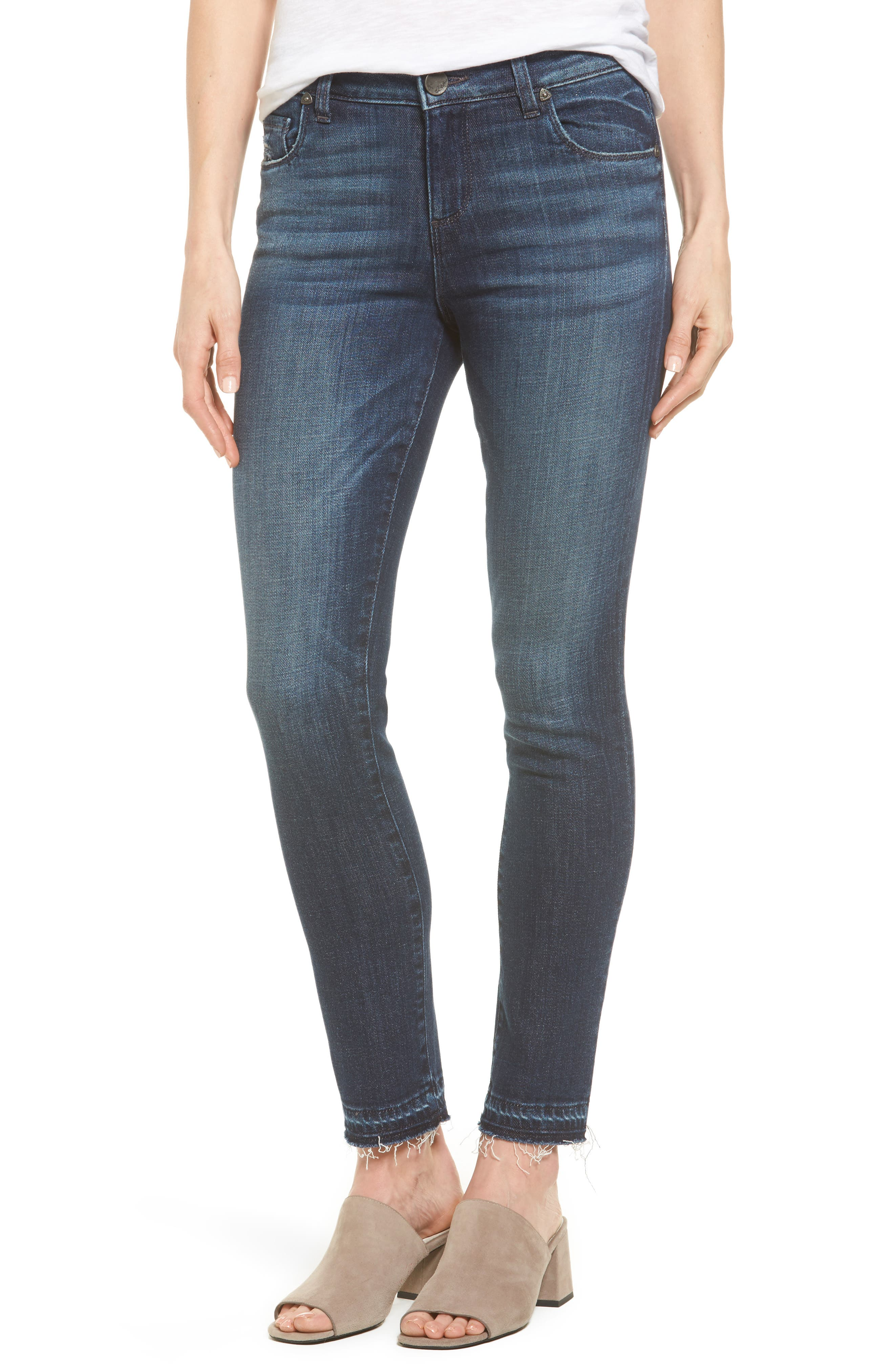 Alternate Image 1 Selected - KUT from the Kloth Reese Release Hem Ankle Jeans (Prevailing)