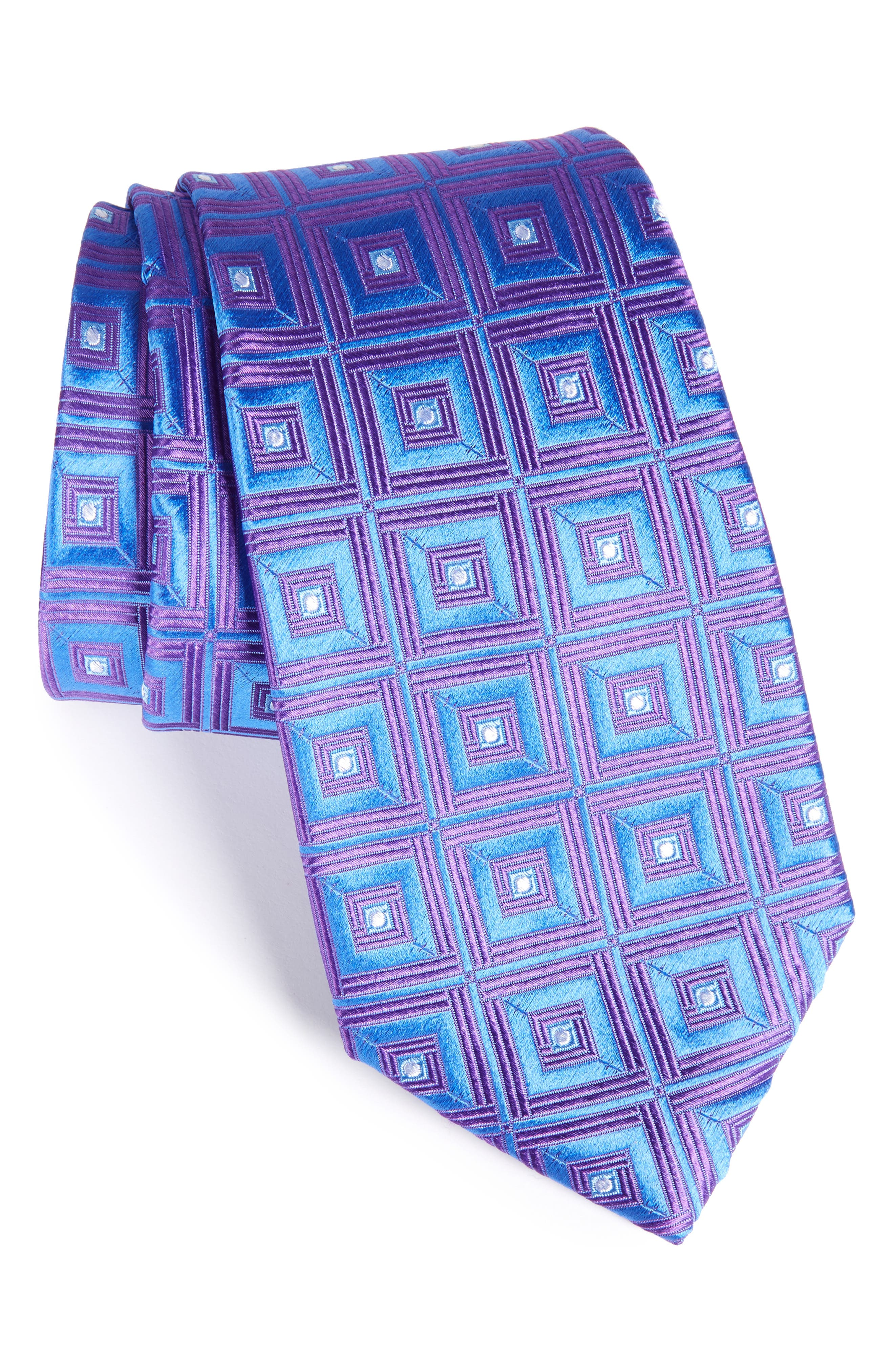 Alternate Image 1 Selected - Nordstrom Men's Shop Frame Diamonds Silk Tie