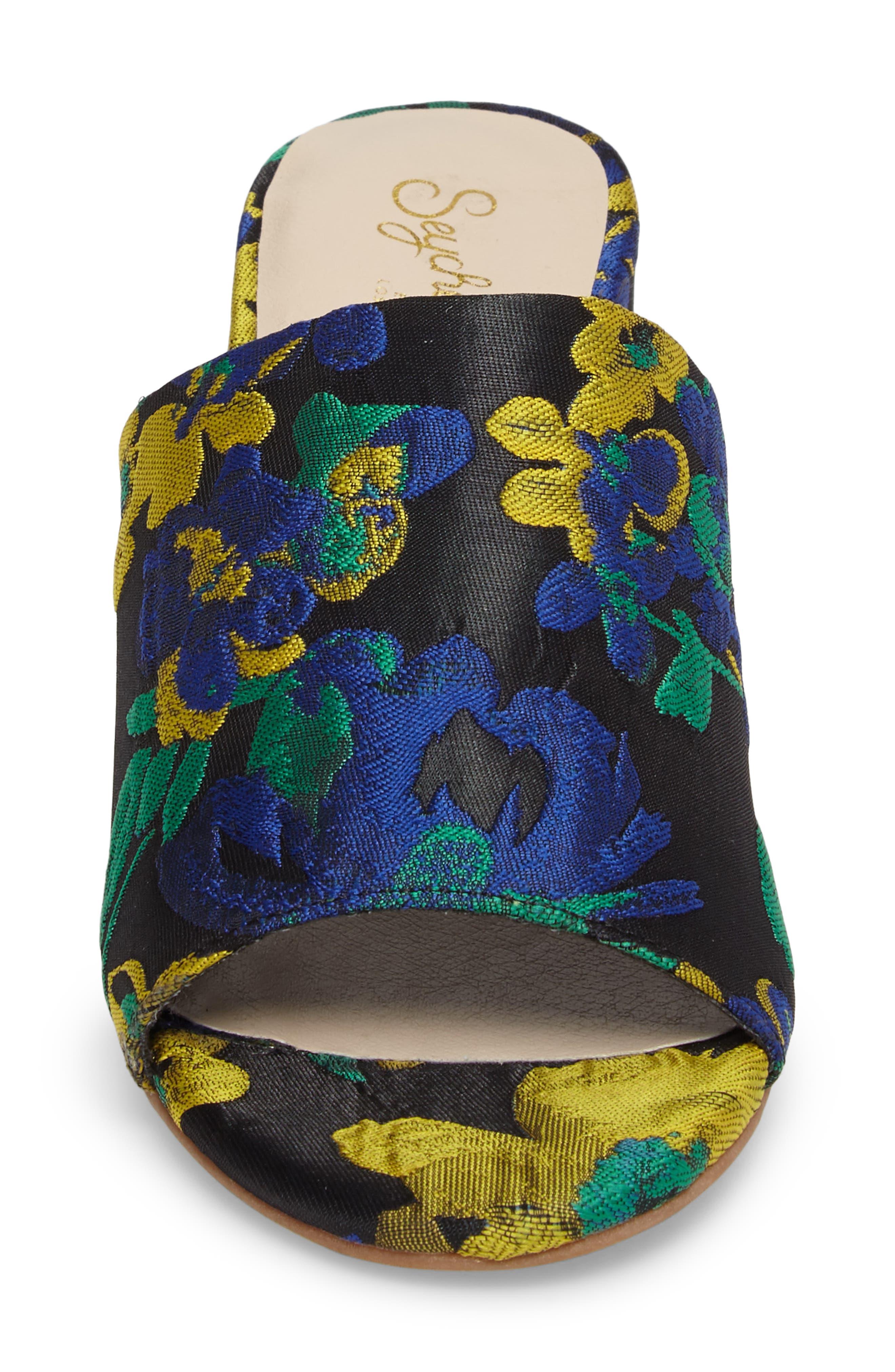Alternate Image 4  - Seychelles Commute Floral Flared Heel Sandal (Women)