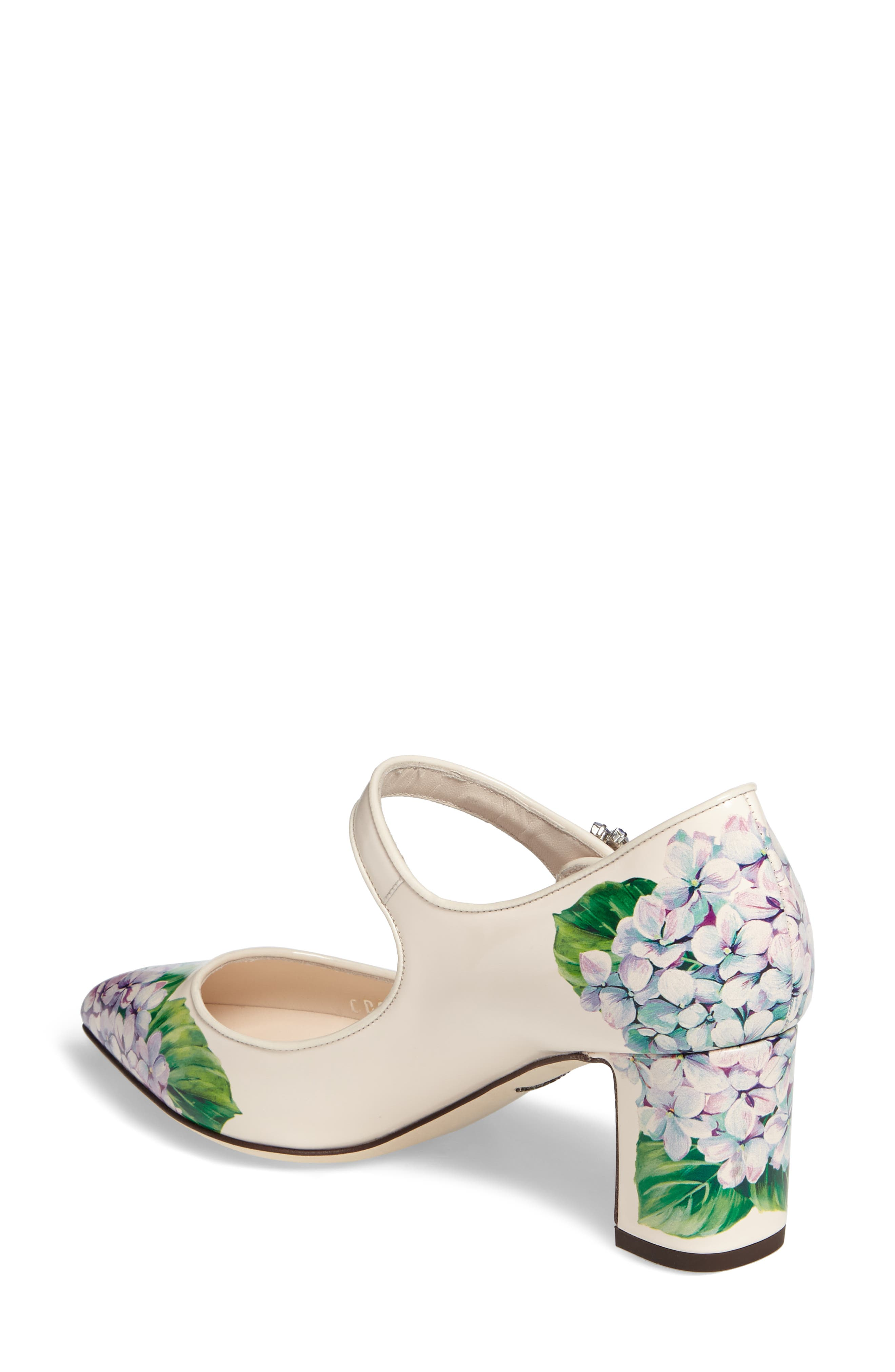 Hydrangea Mary Jane Pump,                             Alternate thumbnail 2, color,                             White Floral