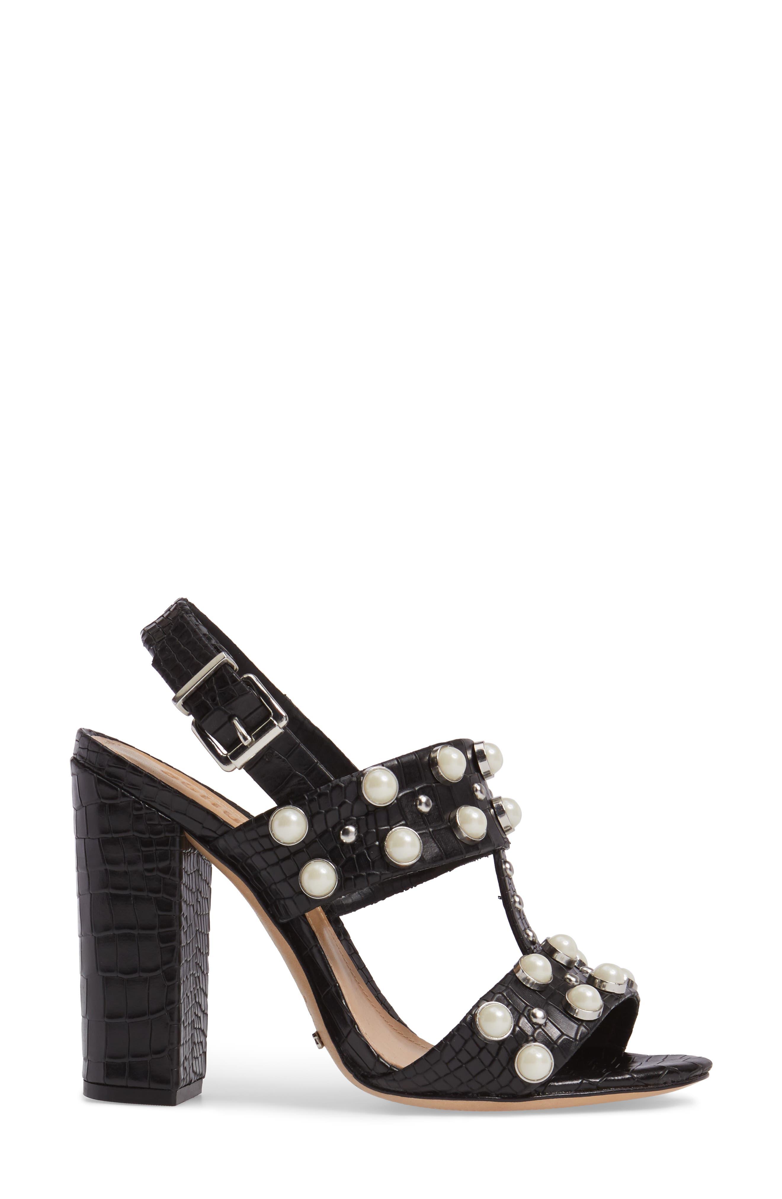 Alternate Image 3  - Schutz Zarita Imitation Pearl Embellished Sandal (Women)