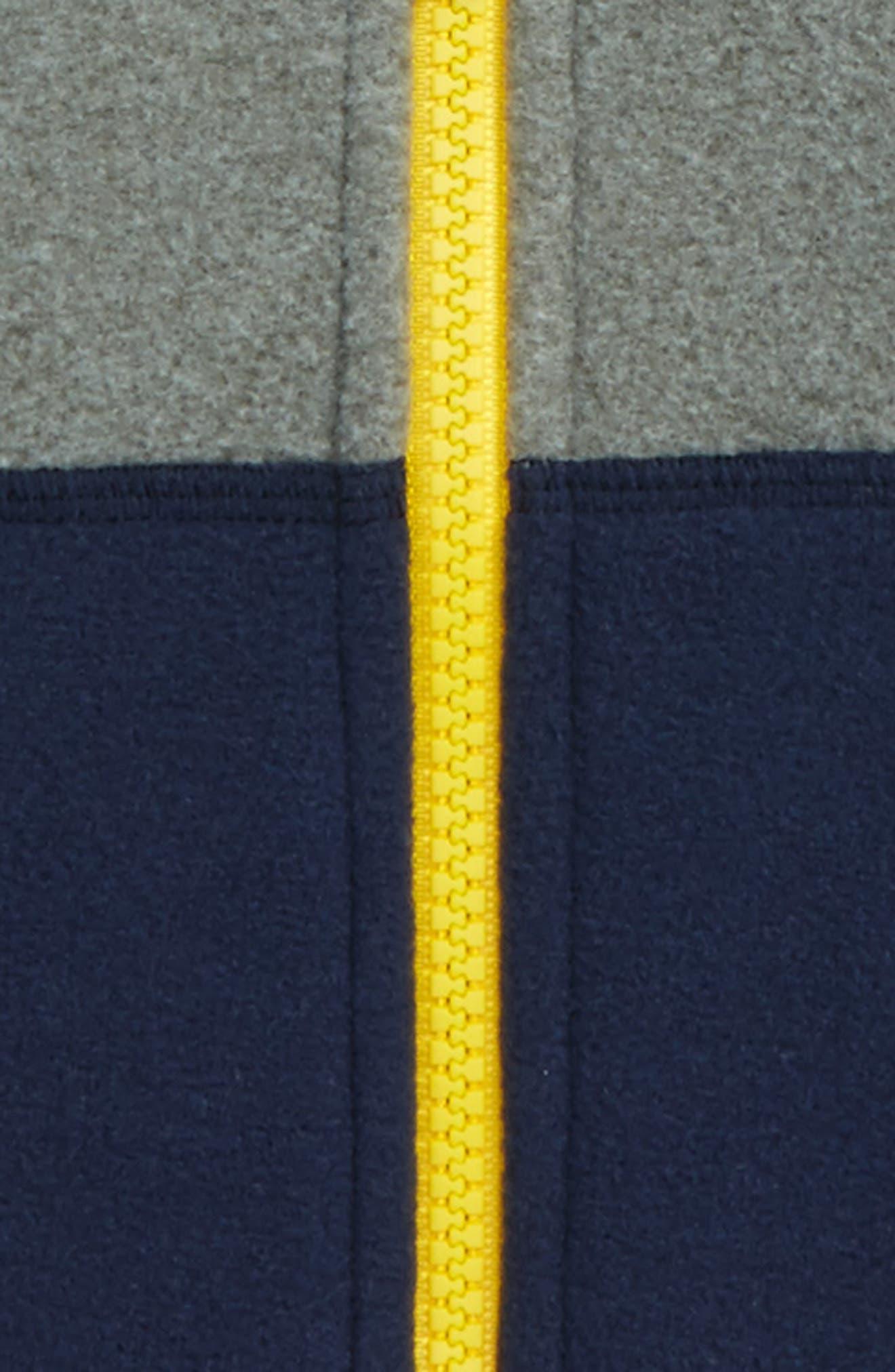 'Glacier' Zip Hoodie,                             Alternate thumbnail 2, color,                             Tnf Medium Grey/ Cosmic Blue