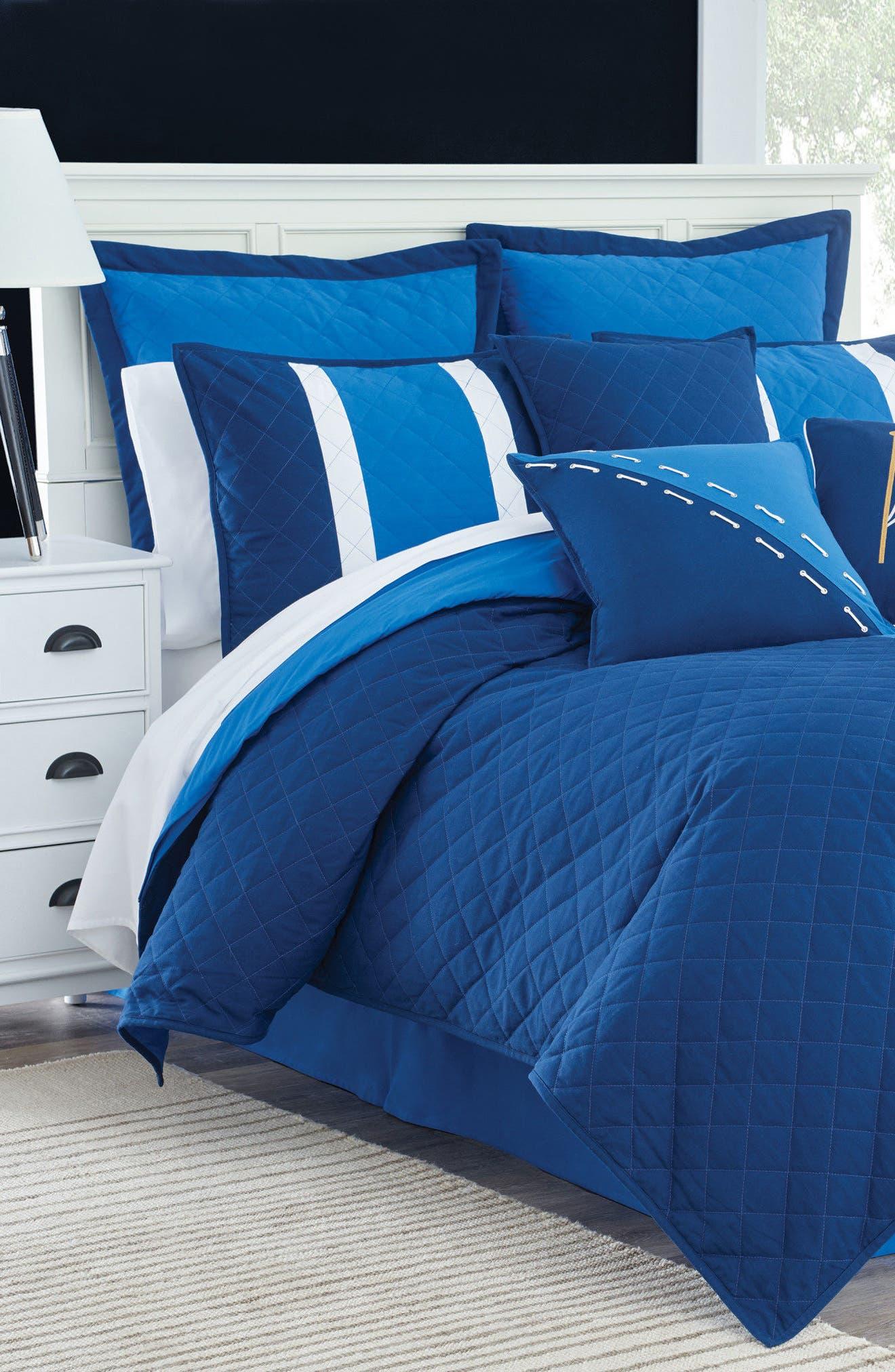 Yacht Club Comforter, Sham & Bed Skirt Set,                         Main,                         color, Navy