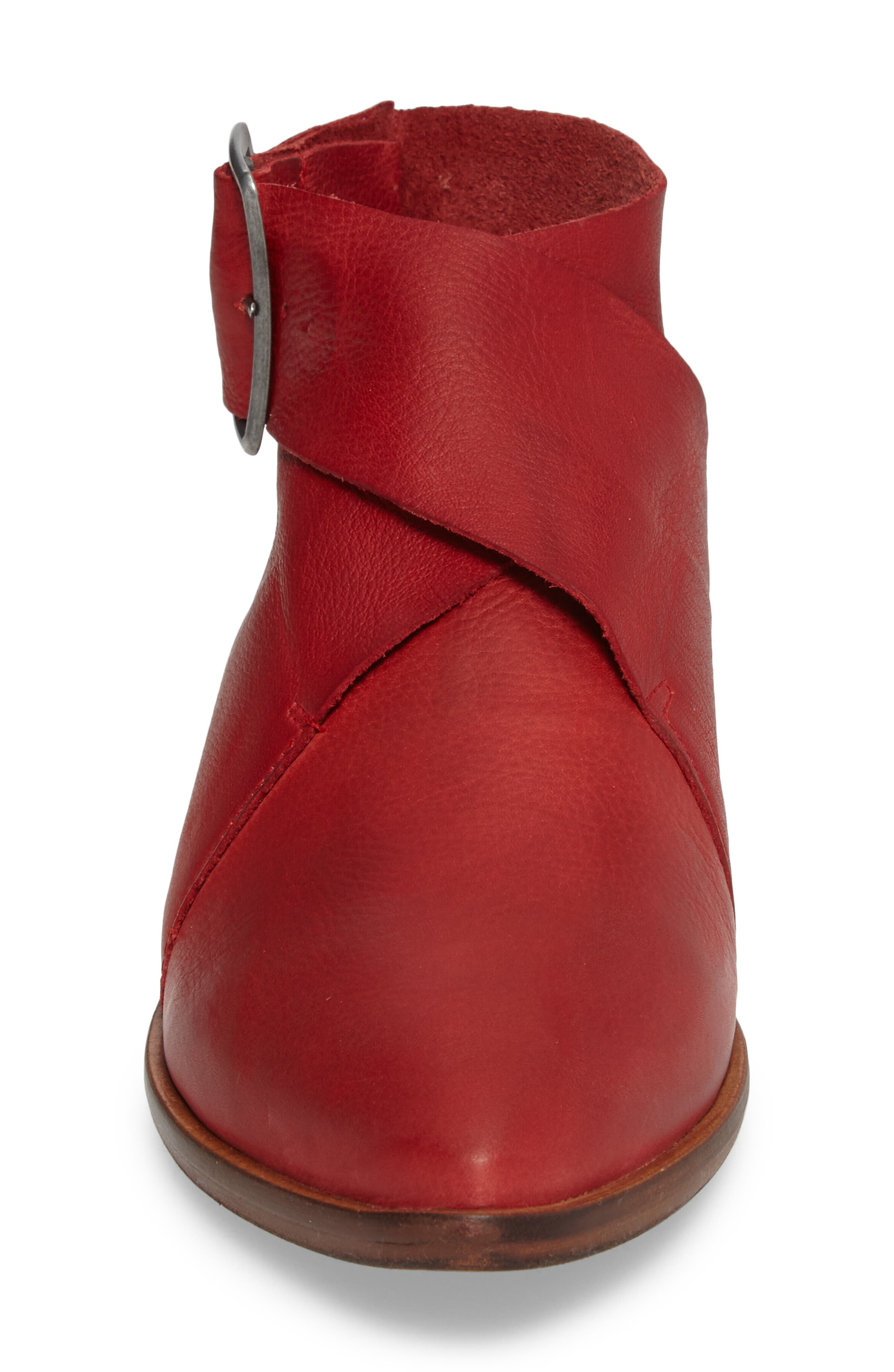 Bryce Buckle Wrap Flat,                             Alternate thumbnail 4, color,                             Red