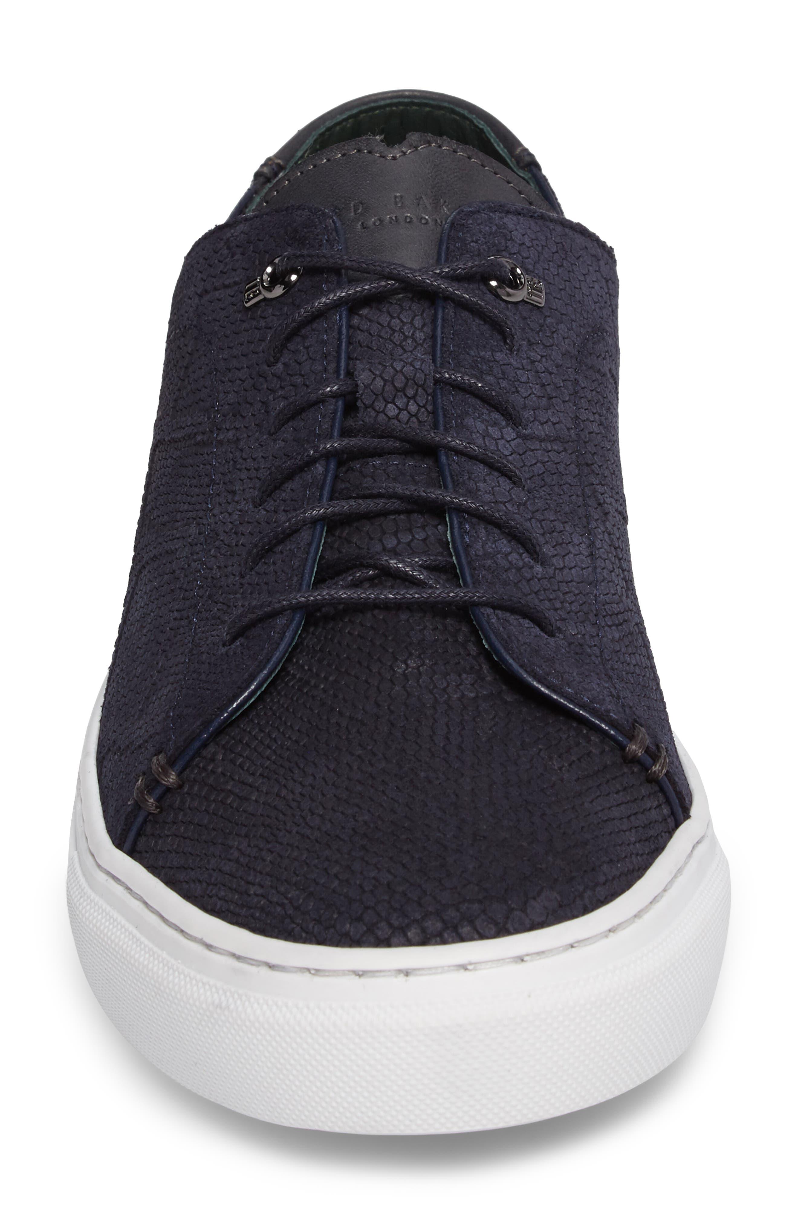 Duuke Sneaker,                             Alternate thumbnail 4, color,                             Dark Blue Suede