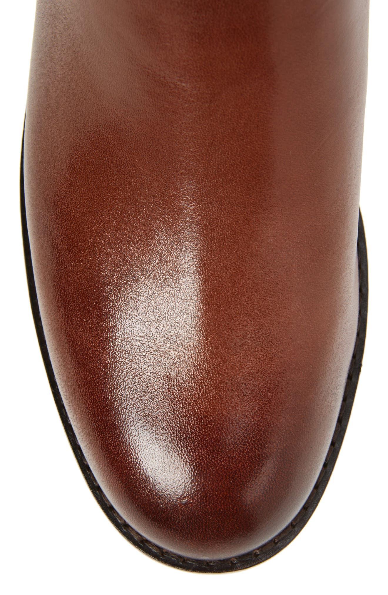 Katrina Riding Boot,                             Alternate thumbnail 6, color,                             Harvest Brown Leather