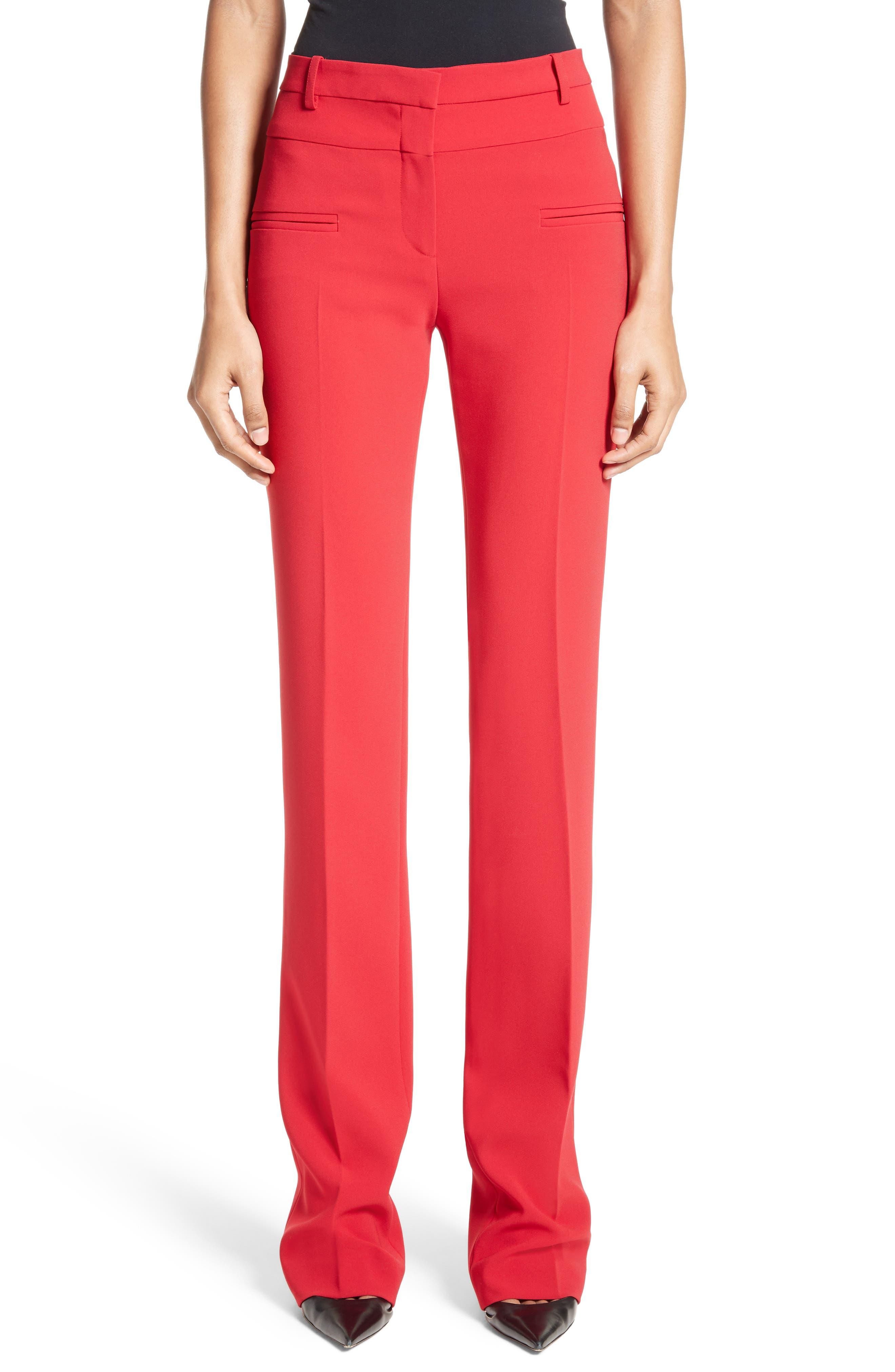 Jane Bootleg Pants,                         Main,                         color, Ruby