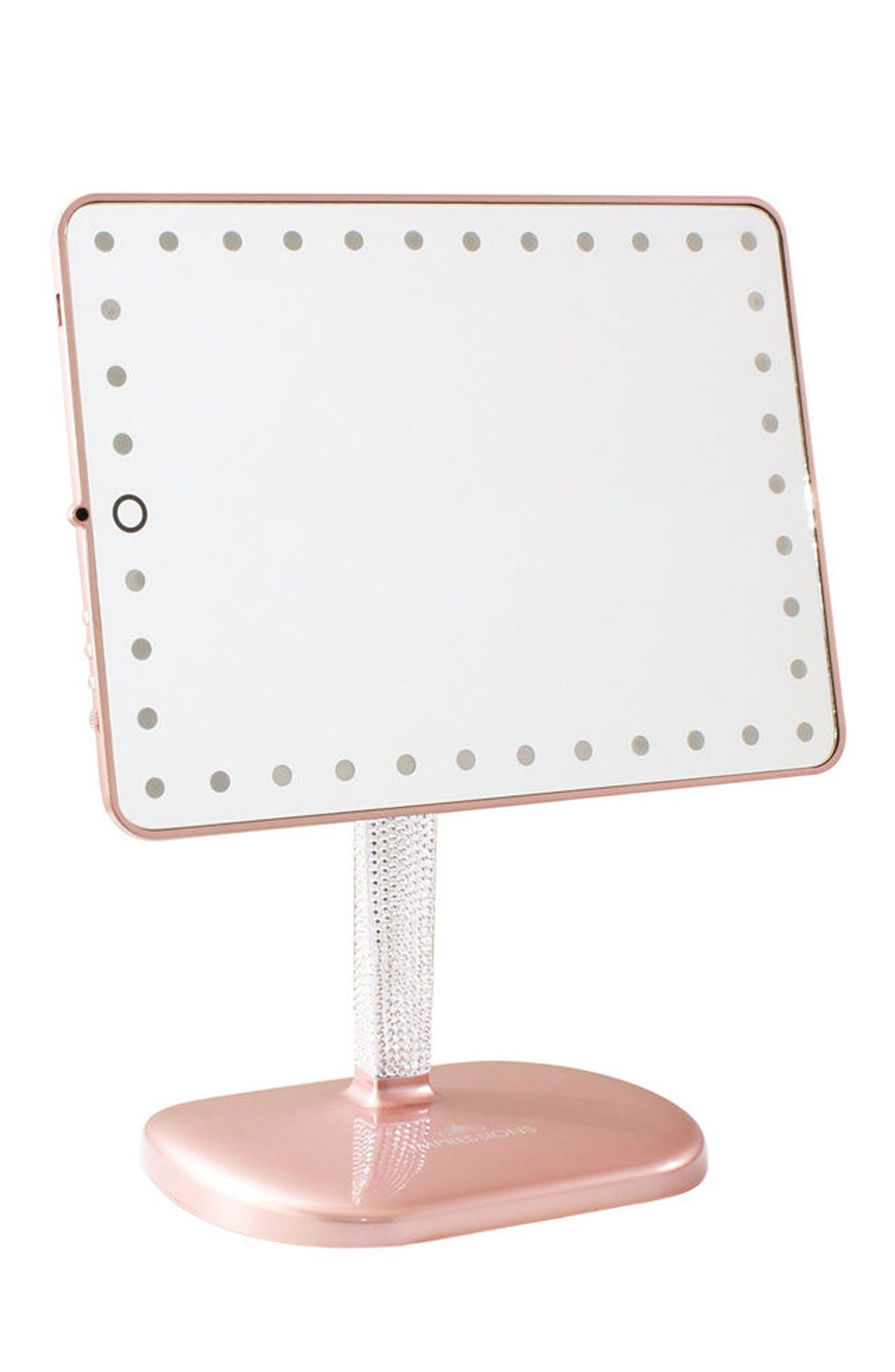 Bling Touch Pro LED Makeup Mirror with Bluetooth<sup>®</sup> Audio & Speakerphone,                             Alternate thumbnail 2, color,                             Rose Gold Bling Edition