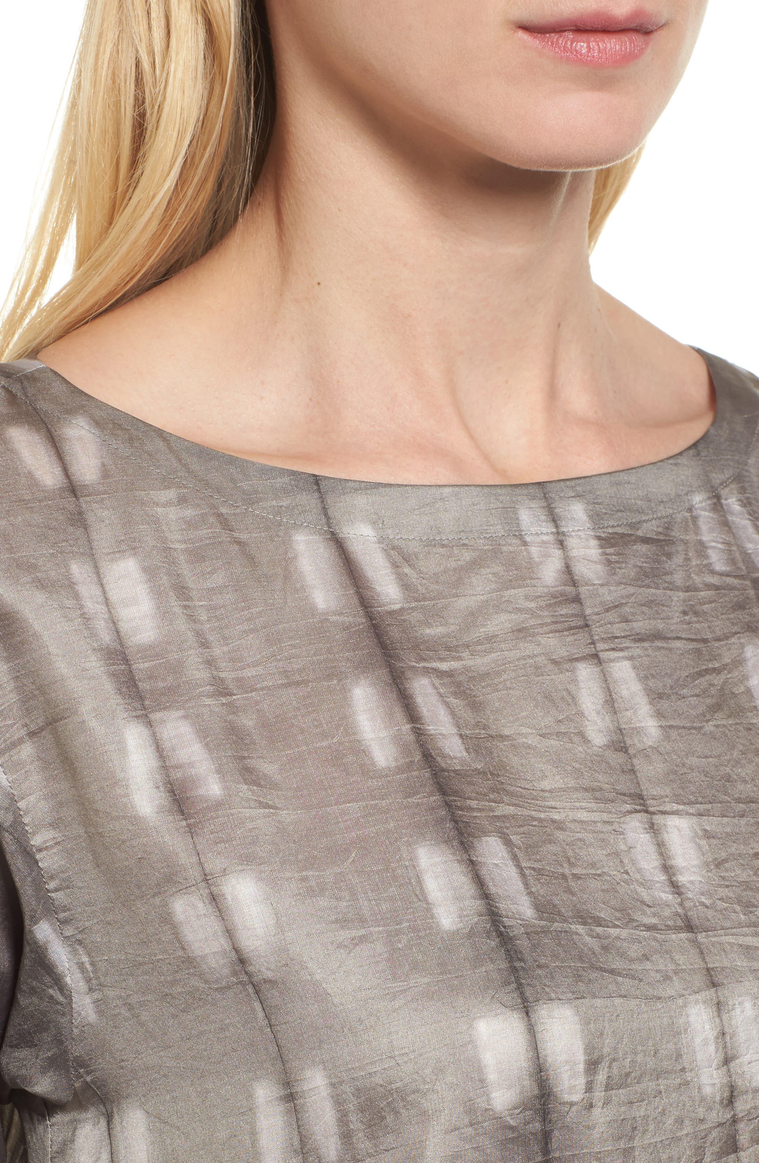 Alternate Image 4  - Eileen Fisher Bateau Neck Silk Tunic