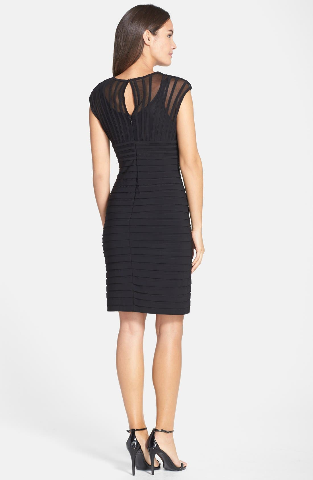 Alternate Image 2  - Adrianna Papell Shutter Pleat Jersey Sheath Dress (Regular & Petite) (Nordstrom Exclusive)