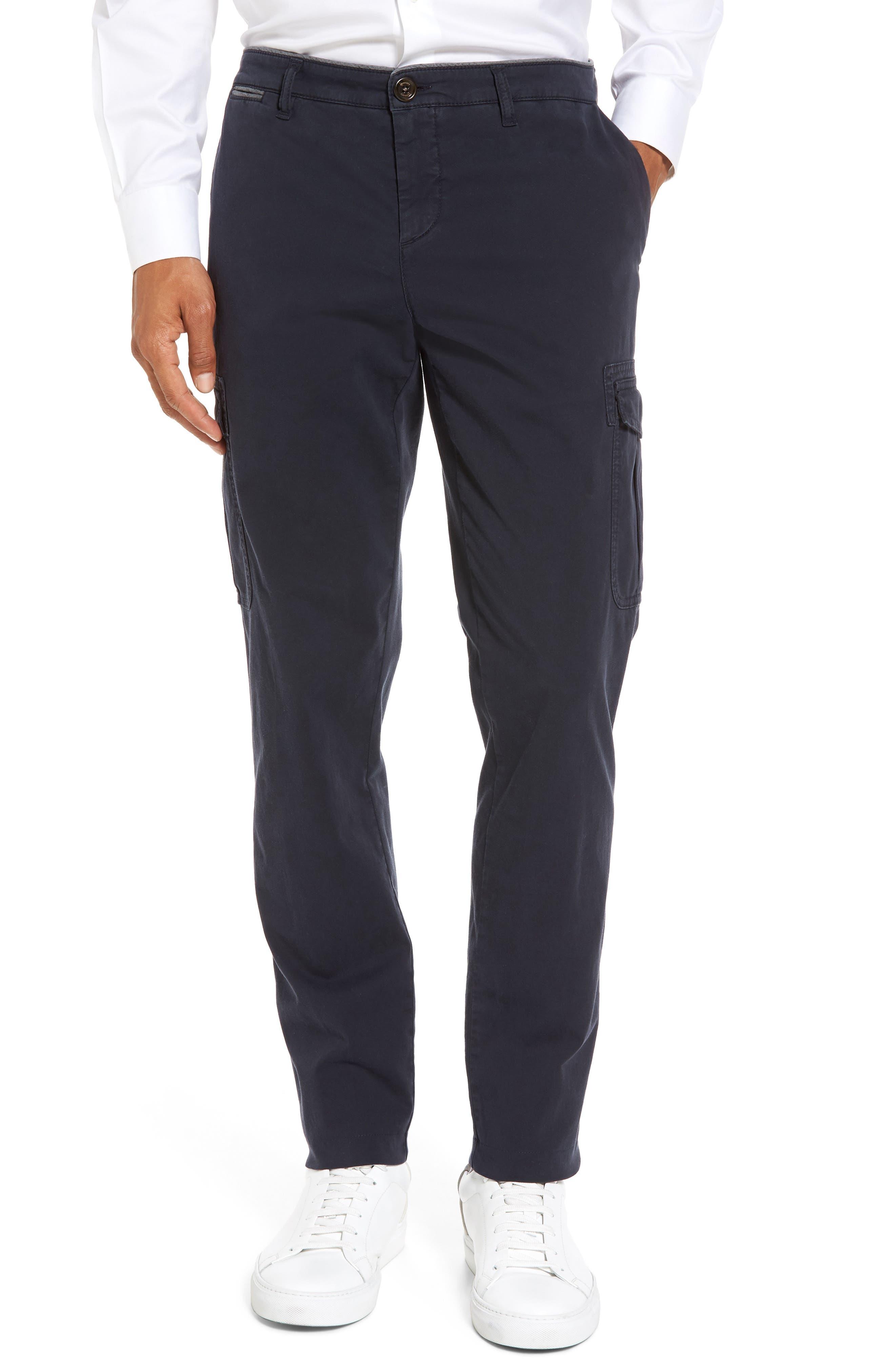 Eleventy Stretch Cotton Cargo Pants