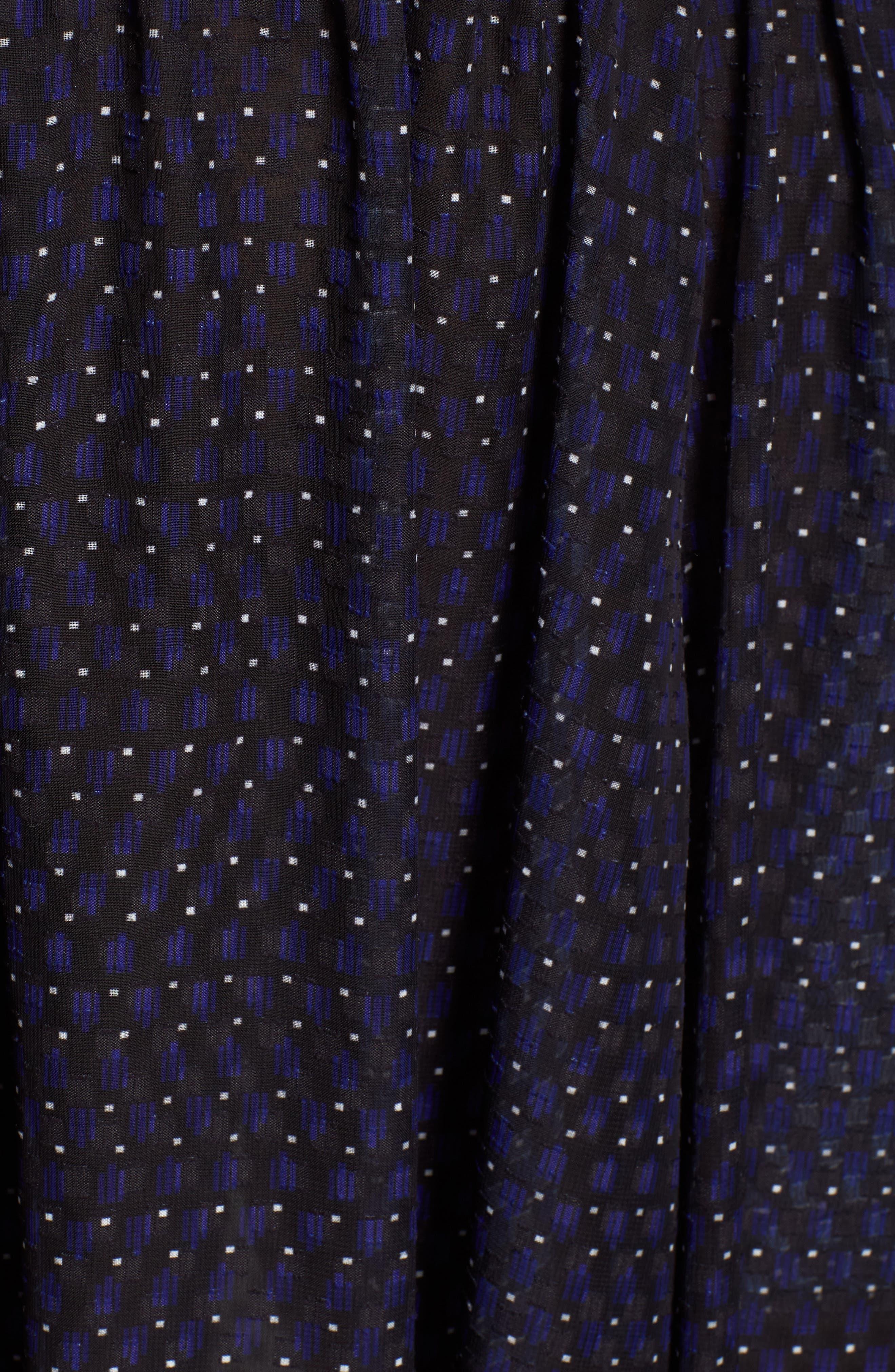Print A-Line Dress,                             Alternate thumbnail 5, color,                             African Violet Combo
