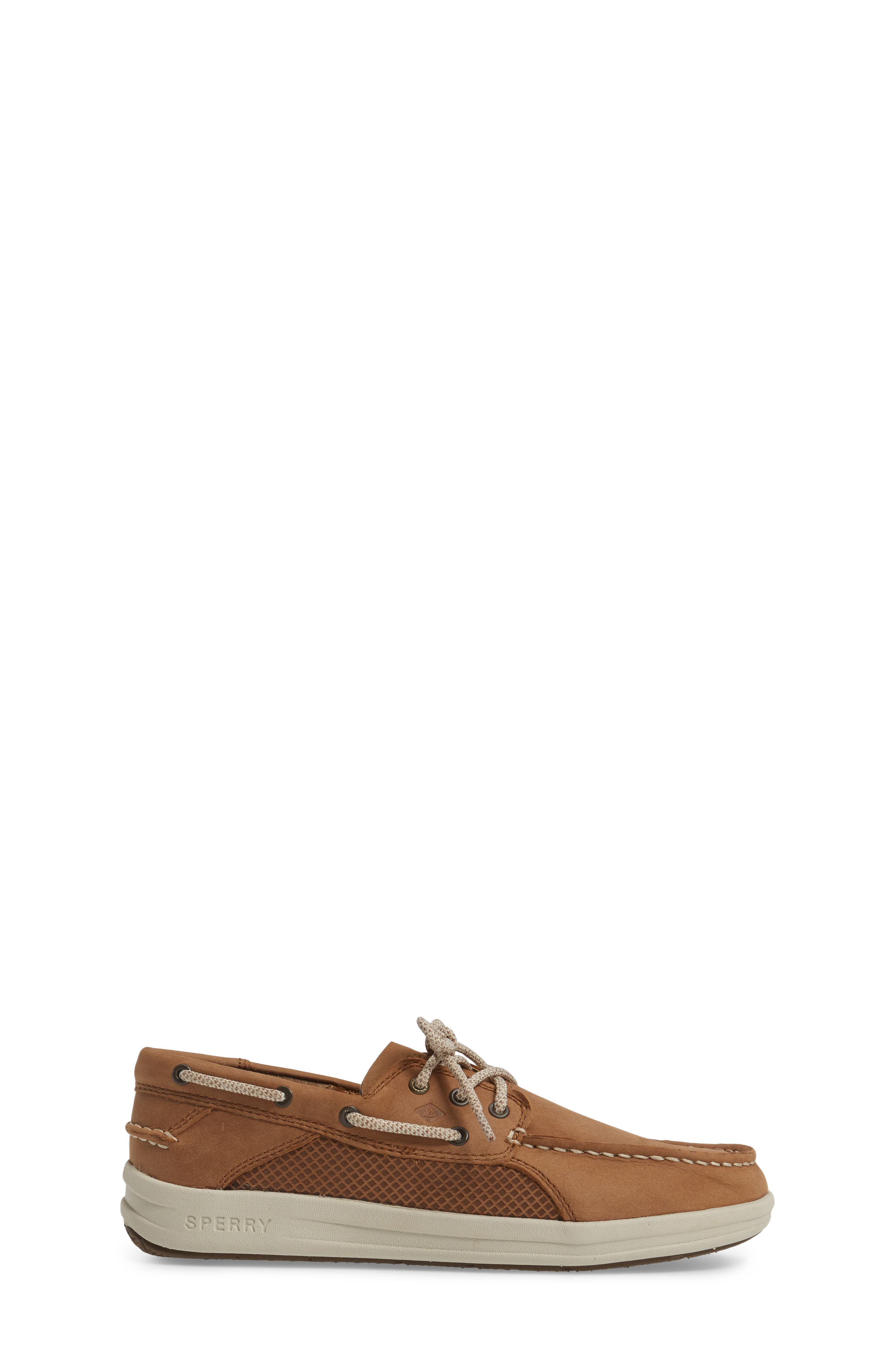 Sperry Gamefish Boat Shoe,                             Alternate thumbnail 3, color,                             Dark Tan