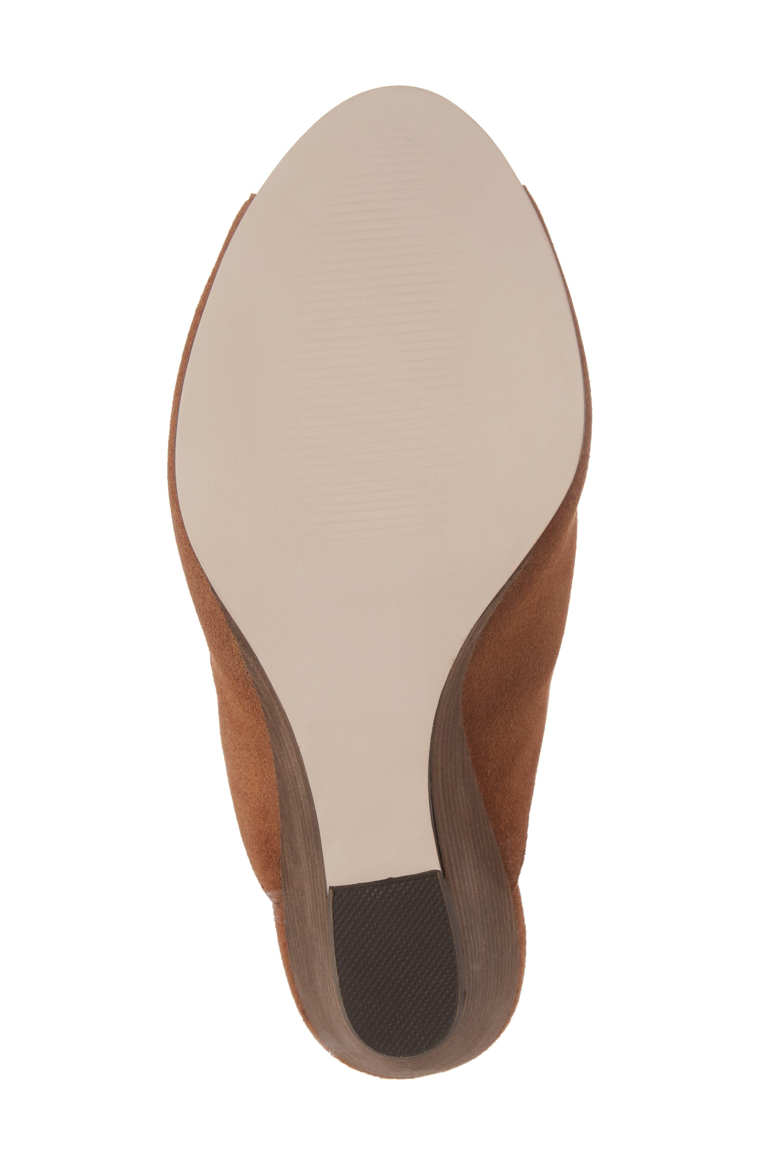 Drew Open-Toe Wedge Mule,                             Alternate thumbnail 6, color,                             Cognac Suede
