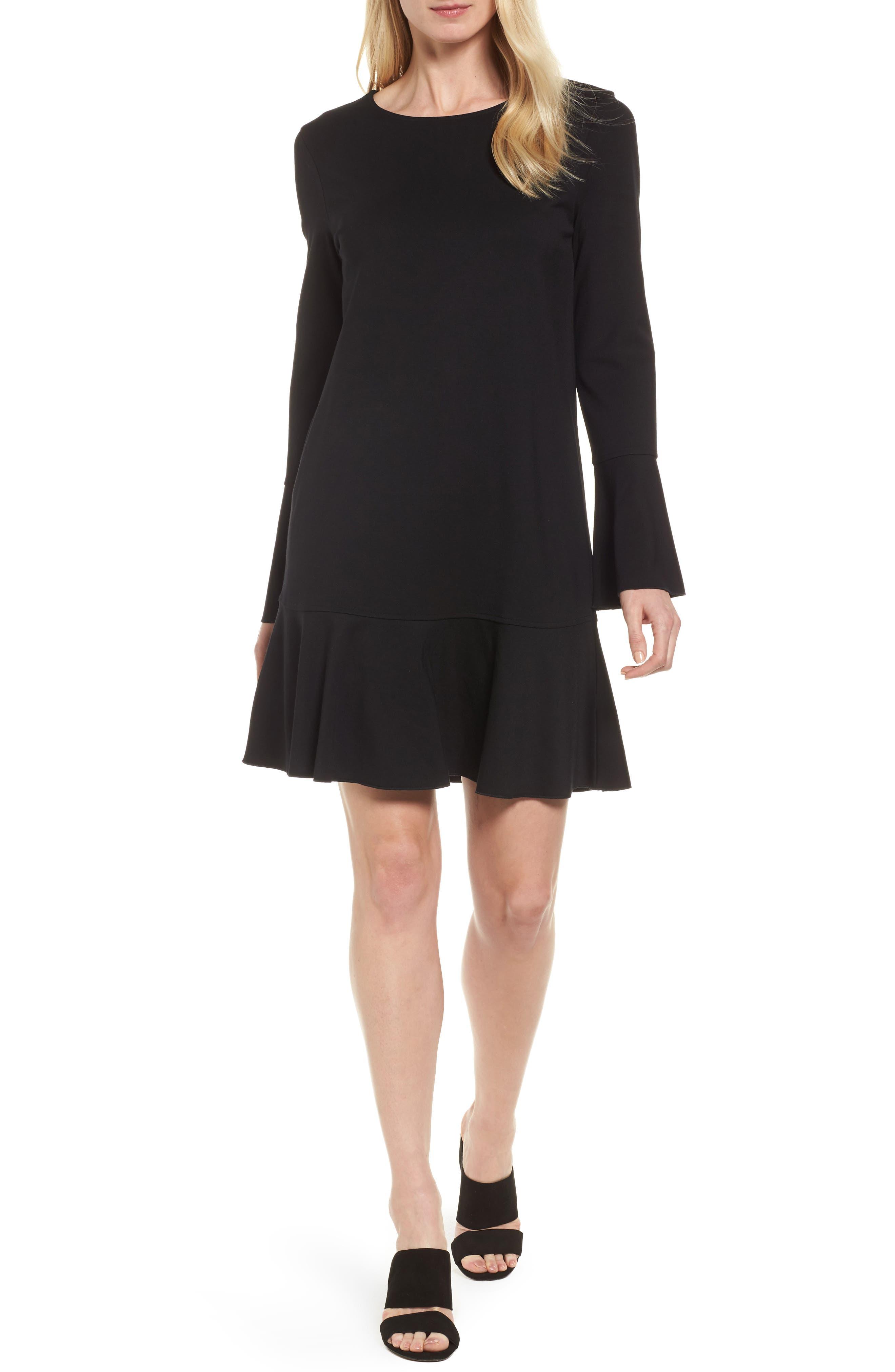 Halogen® Ruffle Knit Dress (Regular & Petite)