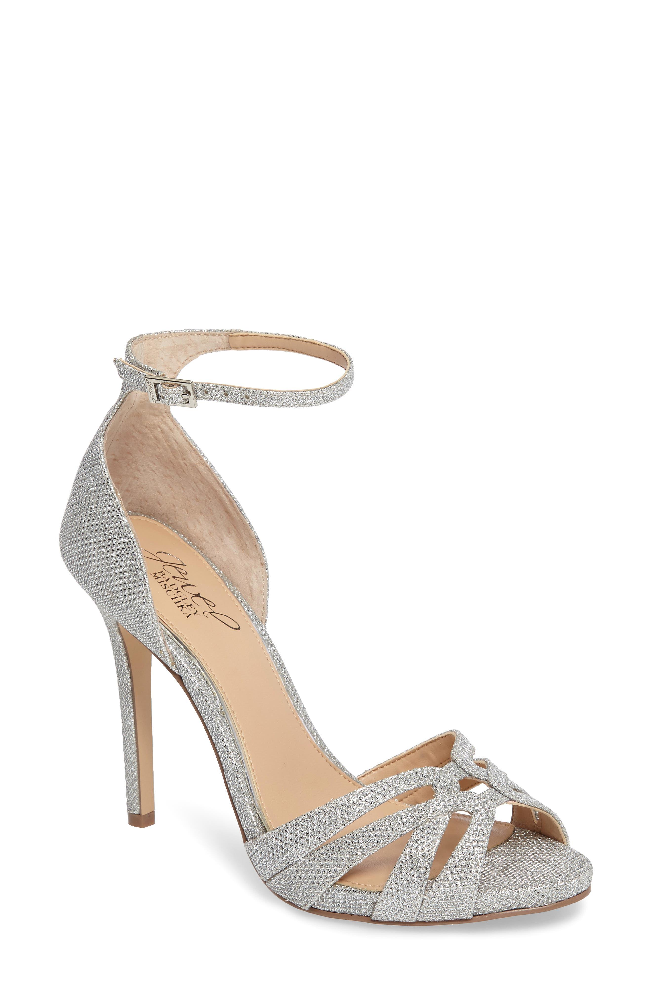 Alternate Image 1 Selected - Jewel Badgley Mischka Loyal Glitter Sandal (Women)
