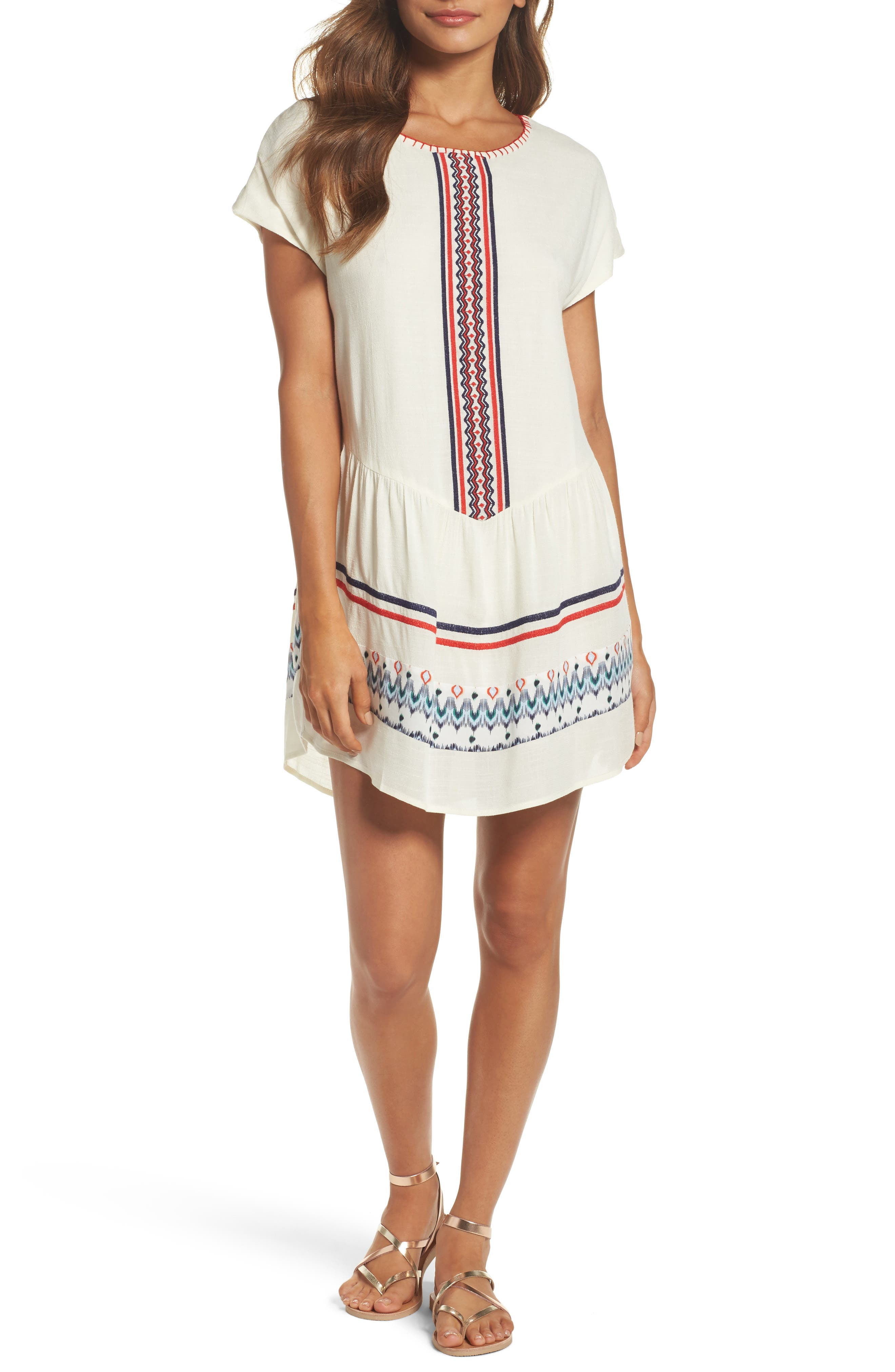 Main Image - THML Embroidered Tunic Dress