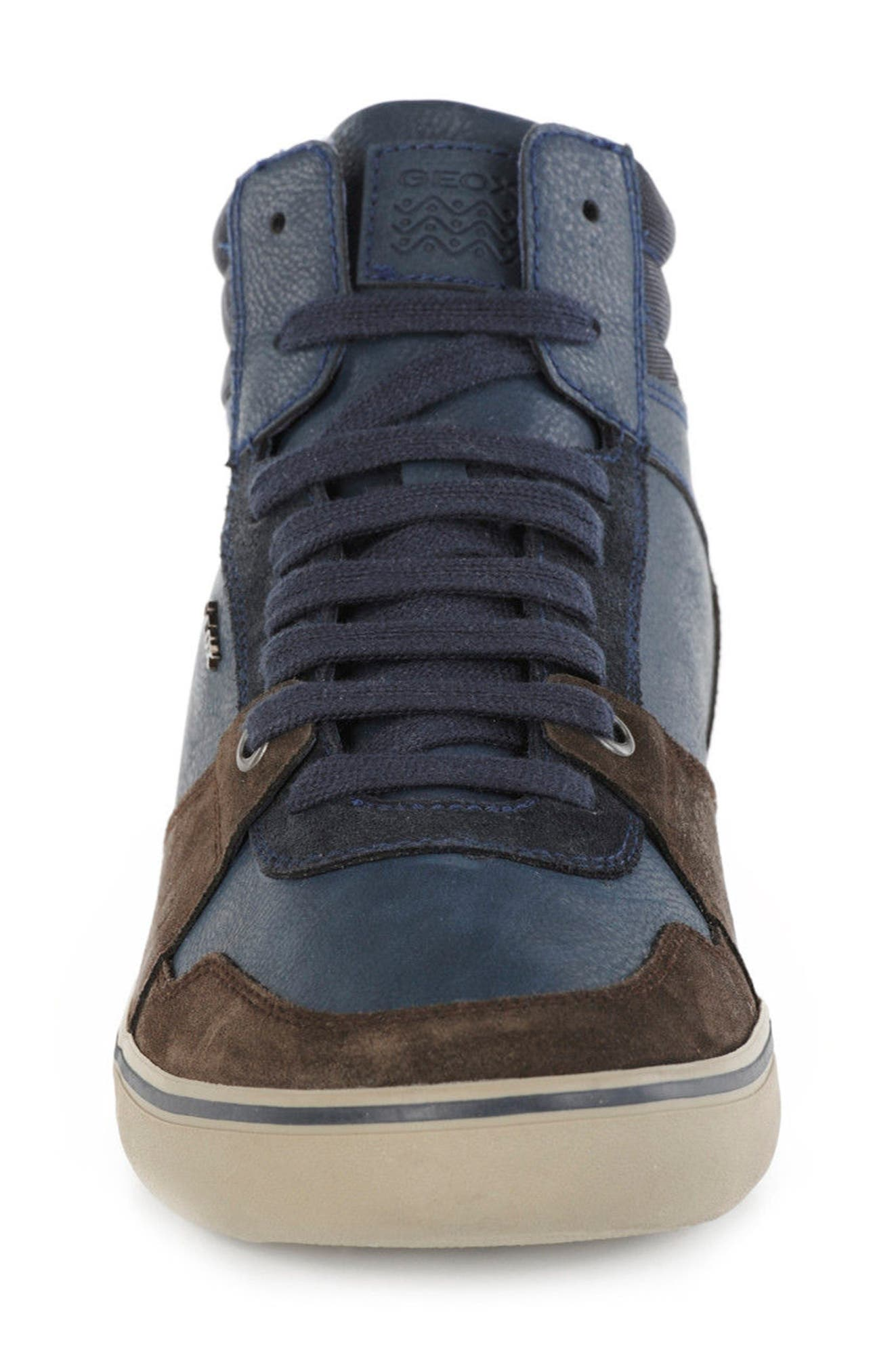 Box 29 High Top Sneaker,                             Alternate thumbnail 4, color,                             Dark Coffee/ Navy
