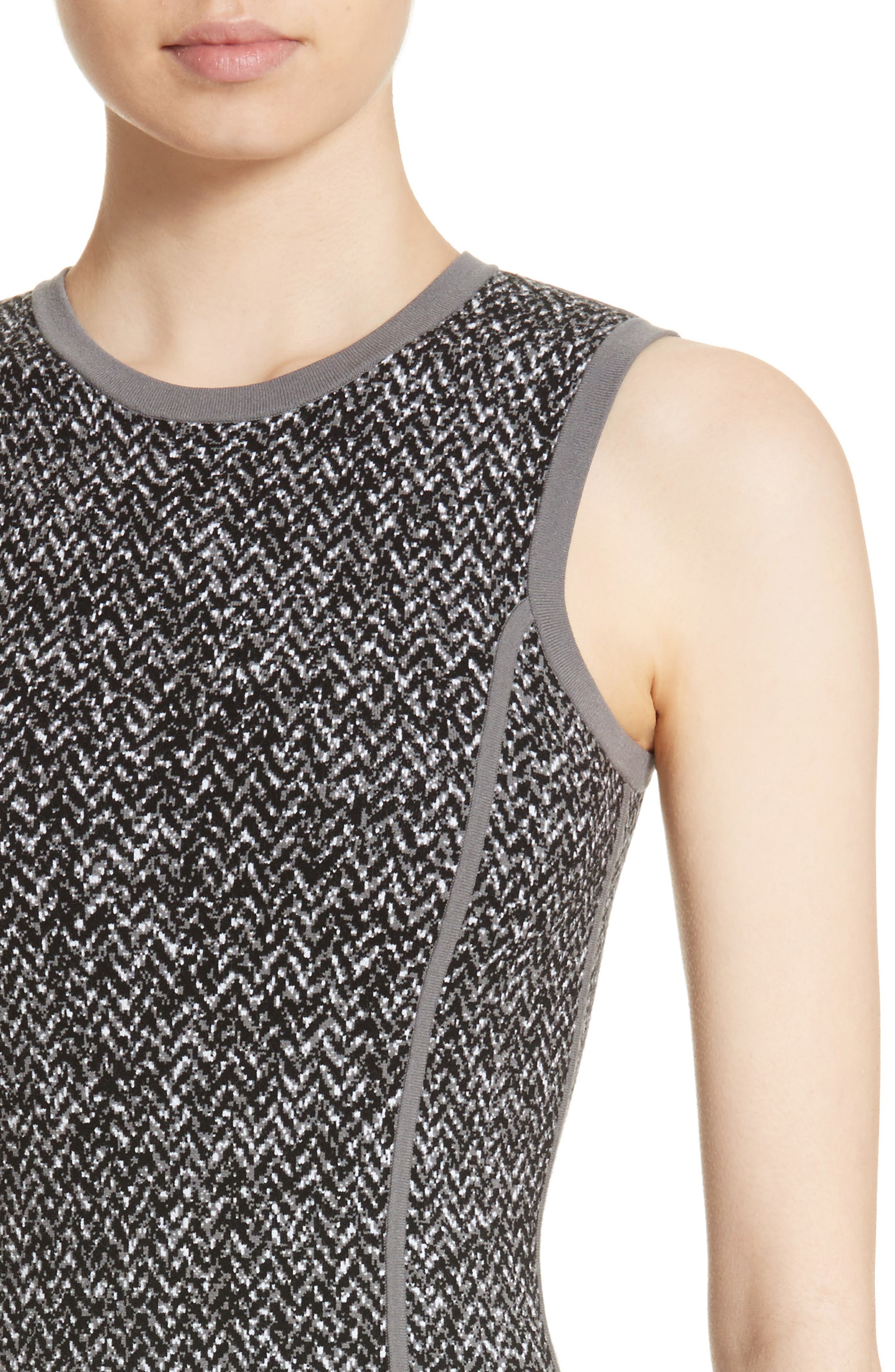 Alternate Image 4  - Michael Kors Stretch Tweed Jacquard Sheath Dress