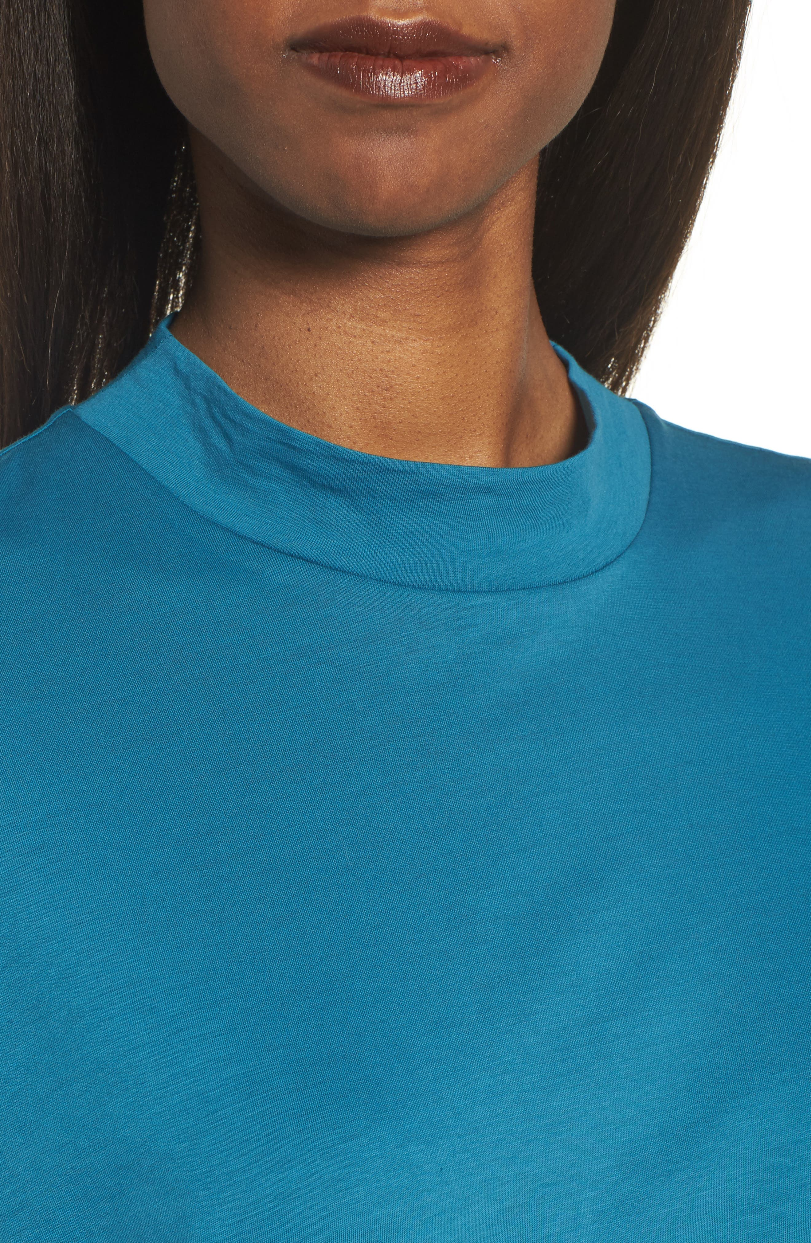 Slub Organic Cotton Top,                             Alternate thumbnail 4, color,                             Nile