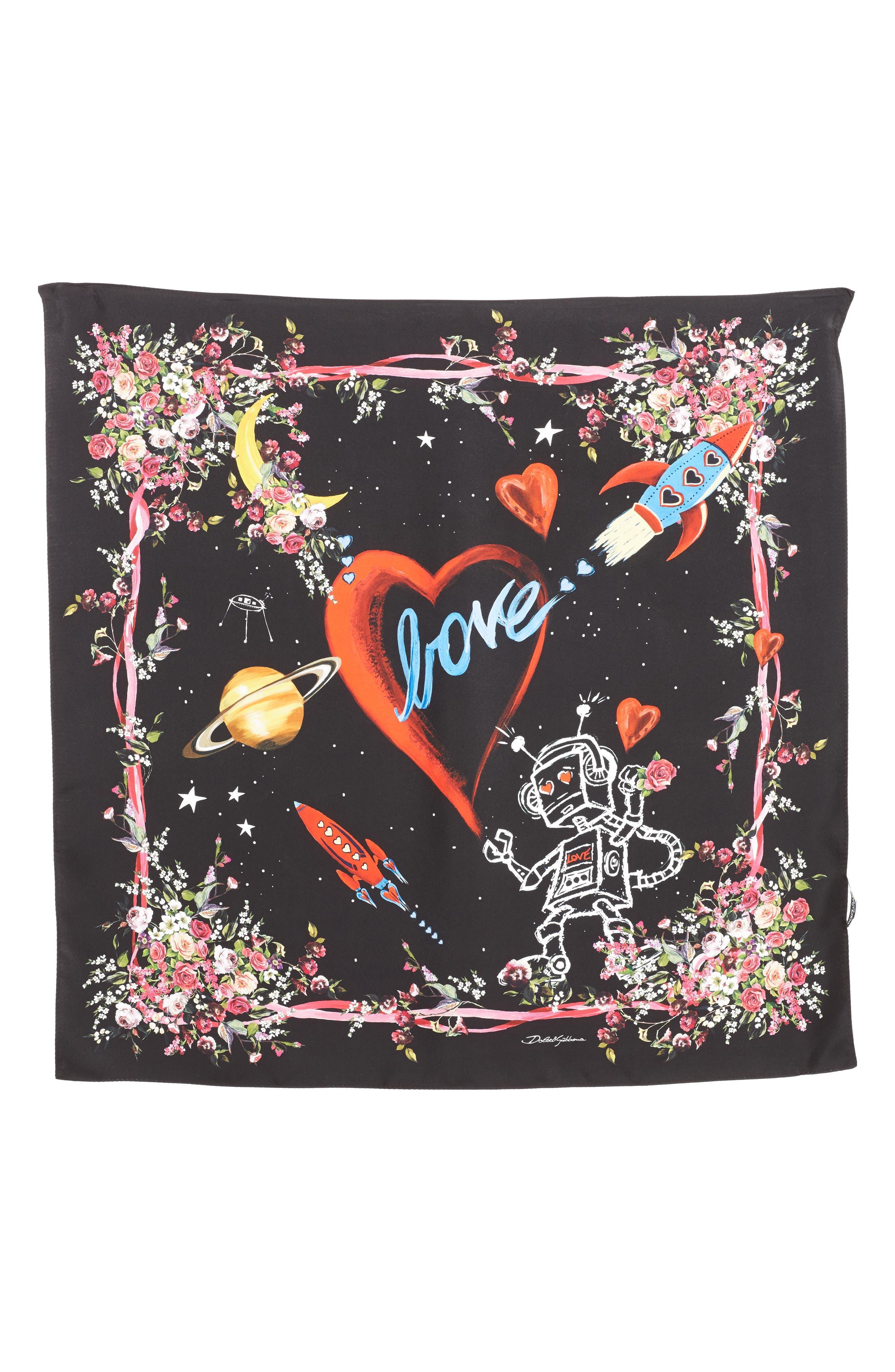 Main Image - Dolce&Gabbana Astro Print Silk Scarf