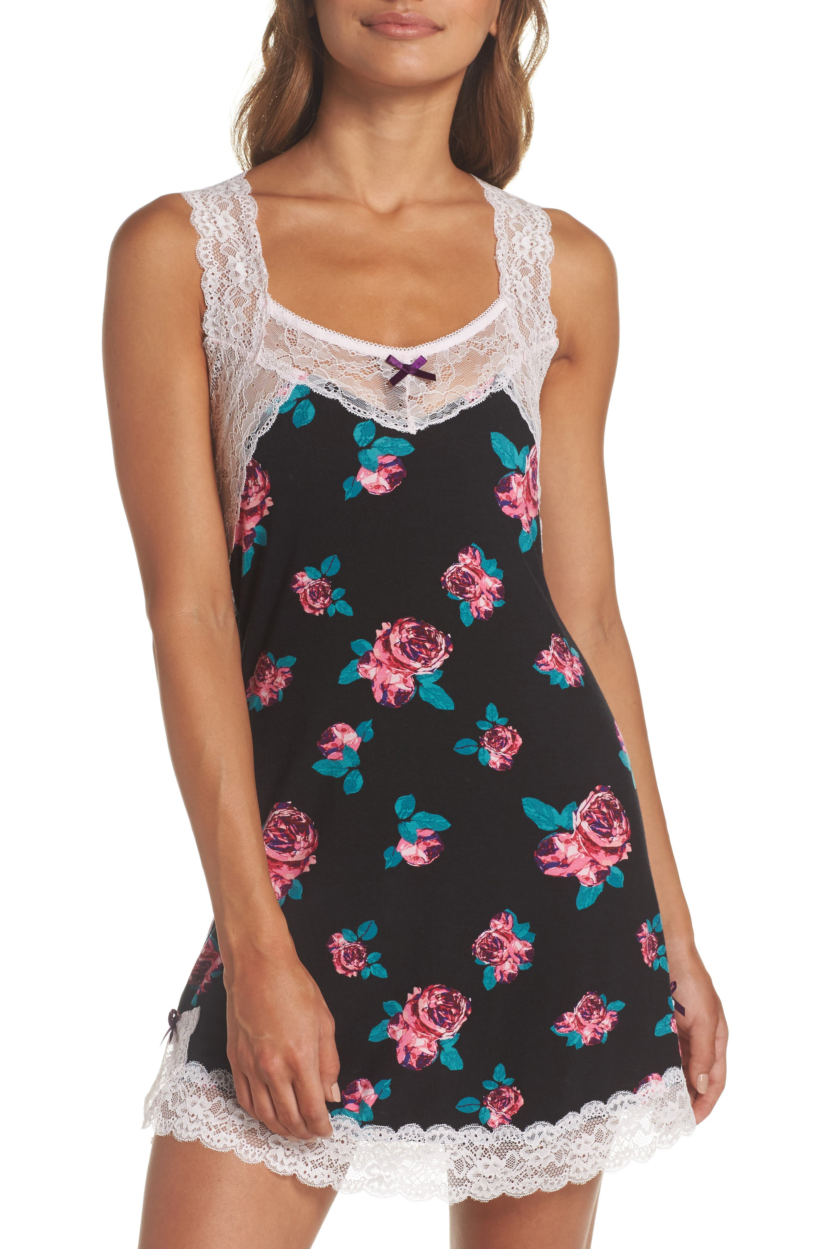 Ahna Chemise,                         Main,                         color, Cavern Peonies