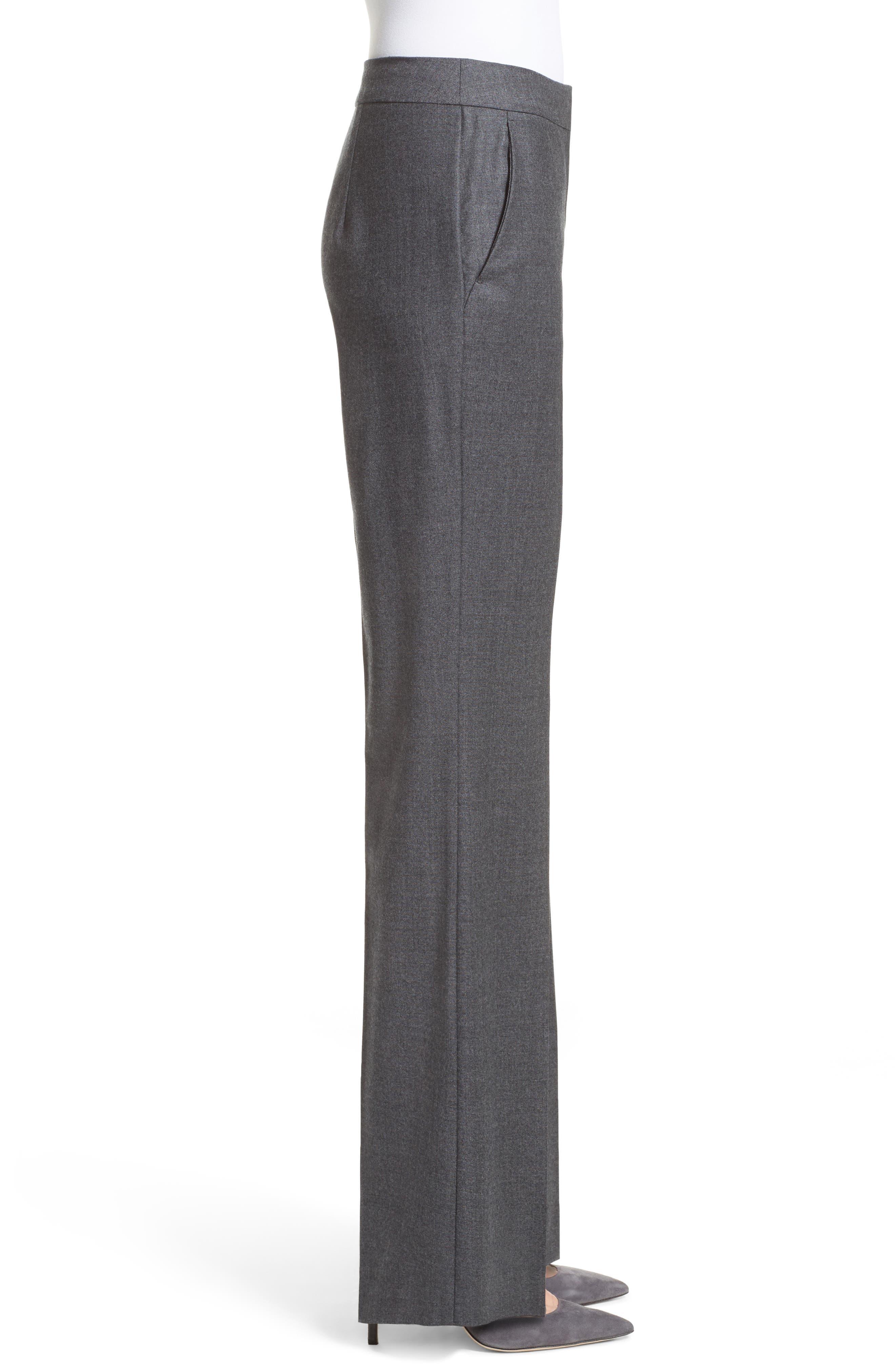 Pedone Wool Pants,                             Alternate thumbnail 4, color,                             Dark Grey