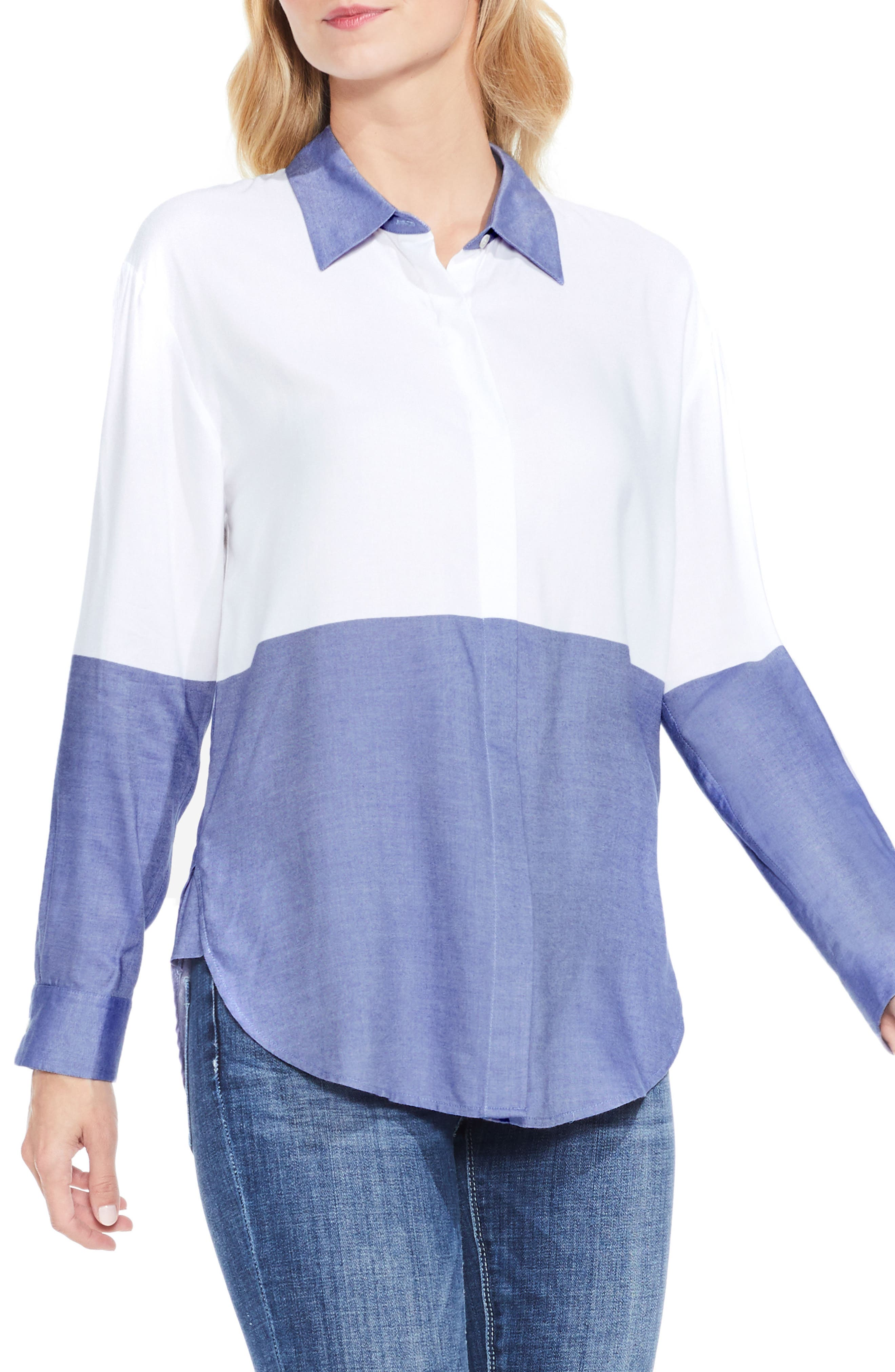 TWO BY VINCE CAMUTO Colorblock Shirt