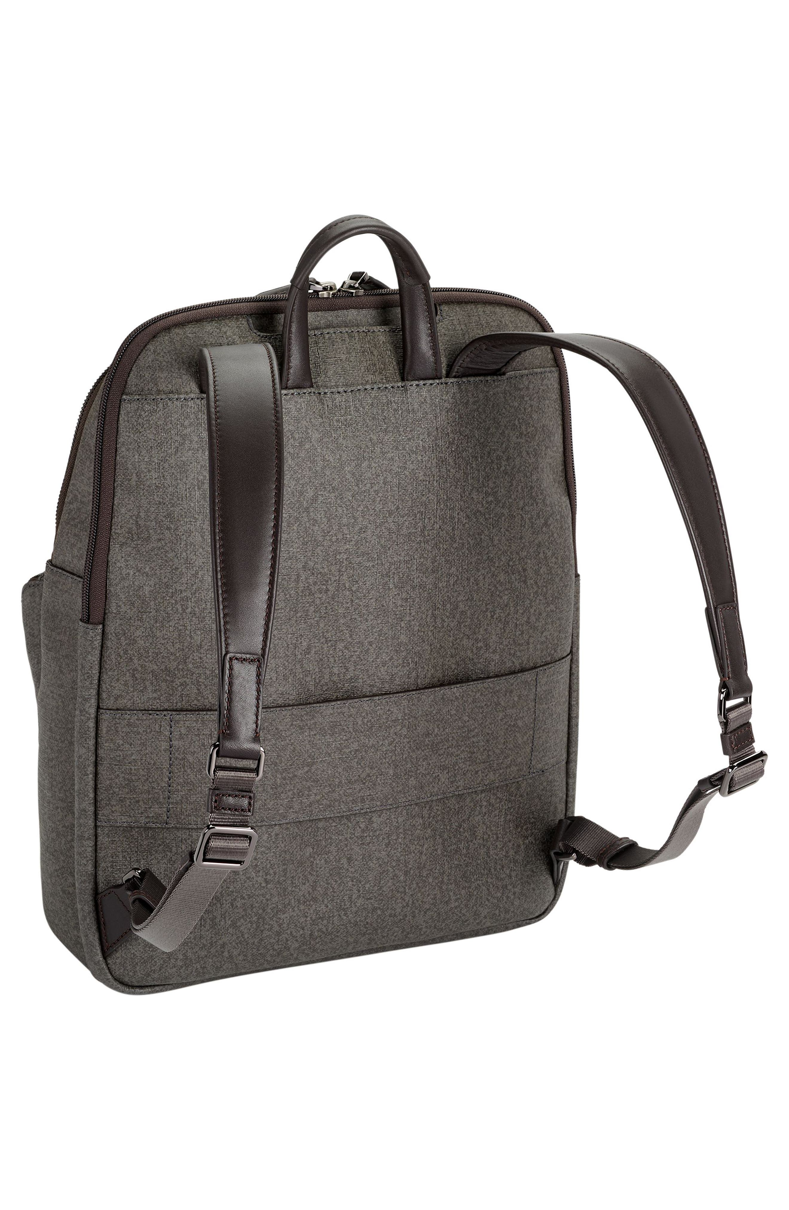 Sinclair - Hanne Coated Canvas Laptop Backpack,                             Alternate thumbnail 3, color,                             Earl Grey