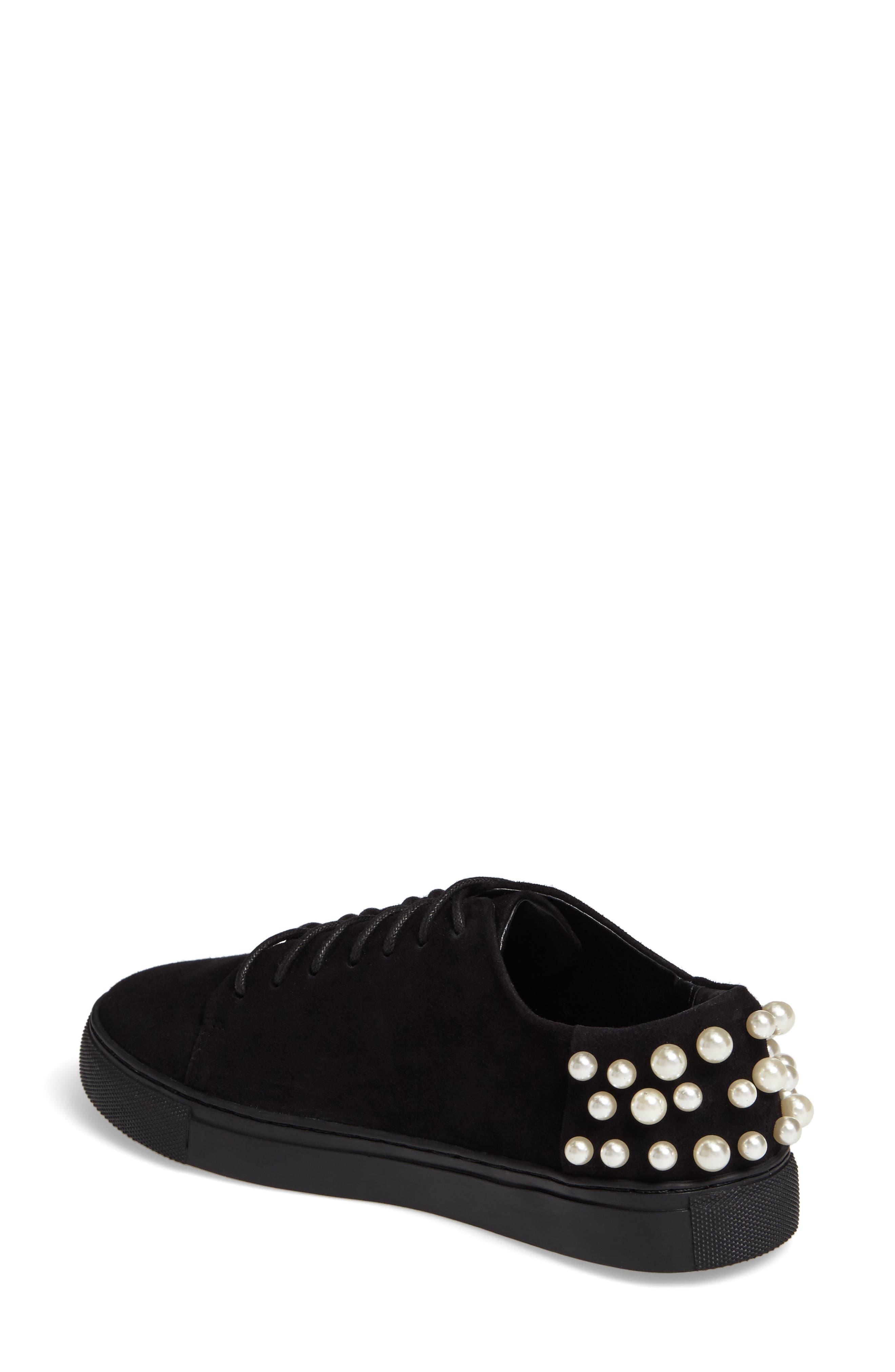 Haig Embellished Sneaker,                             Alternate thumbnail 2, color,                             Black