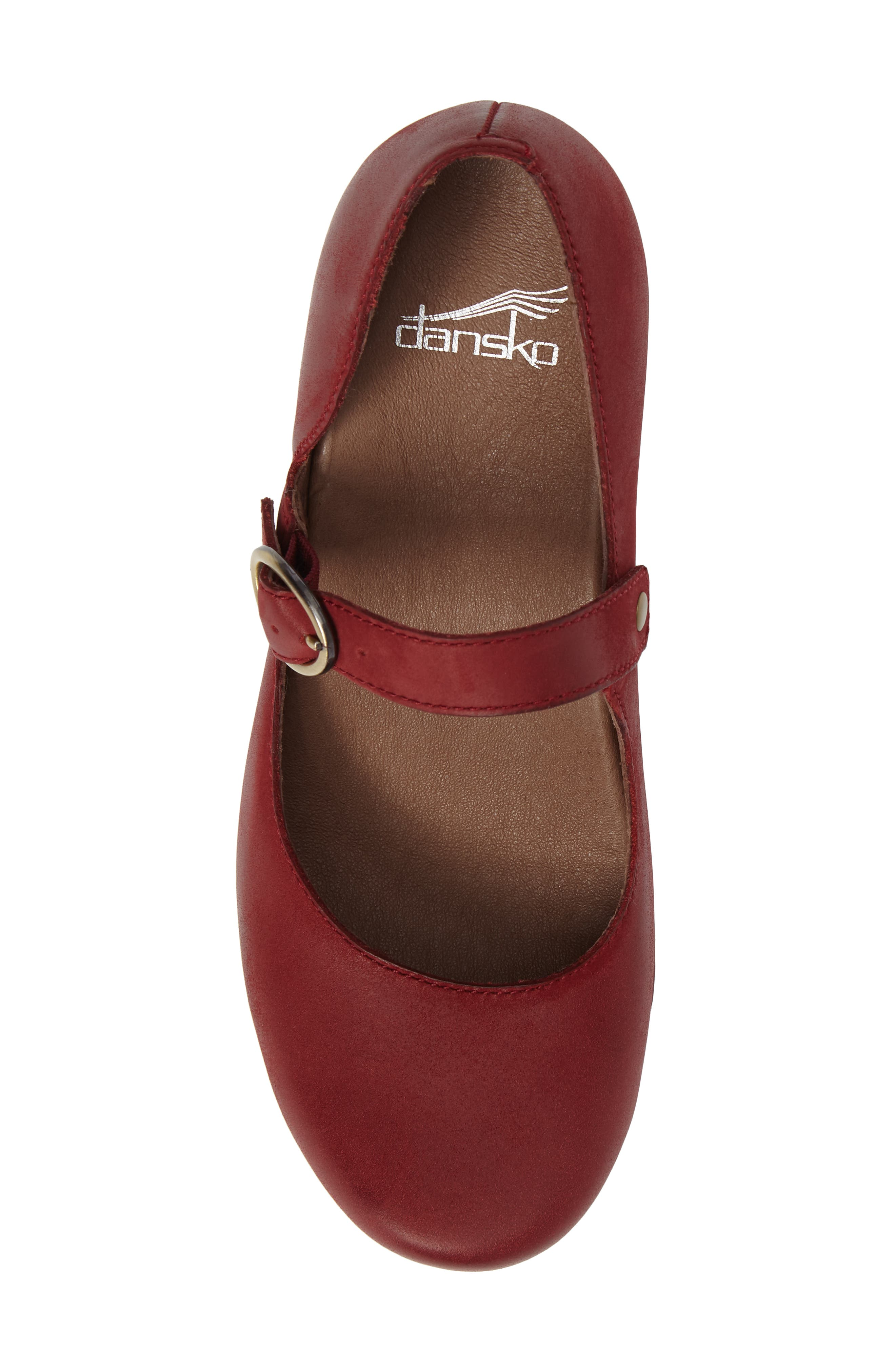 Missy Mary Jane Pump,                             Alternate thumbnail 5, color,                             Red Leather