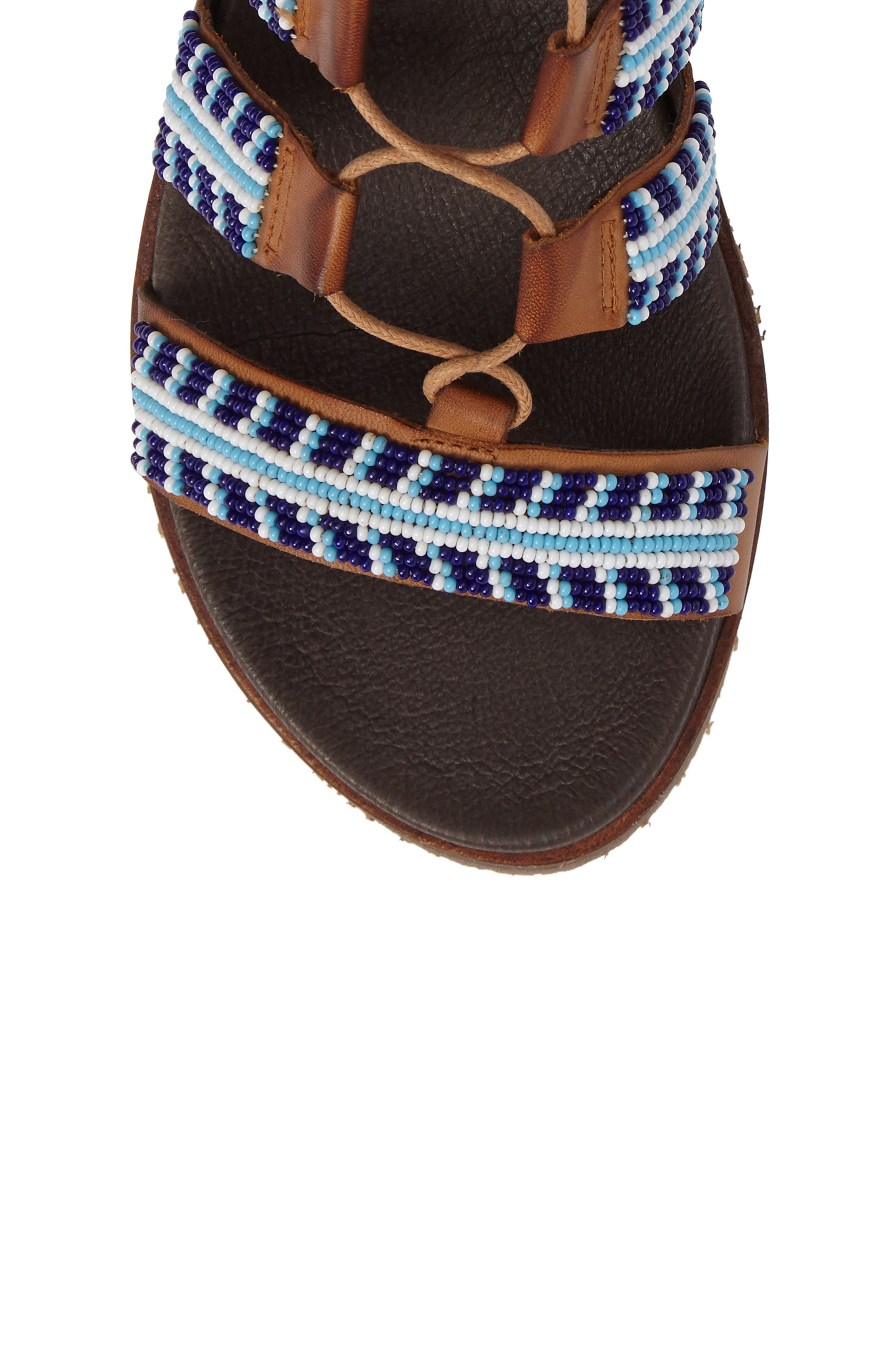 Alternate Image 5  - PIKOLINOS Antillas Beaded Ghillie Sandal (Women)