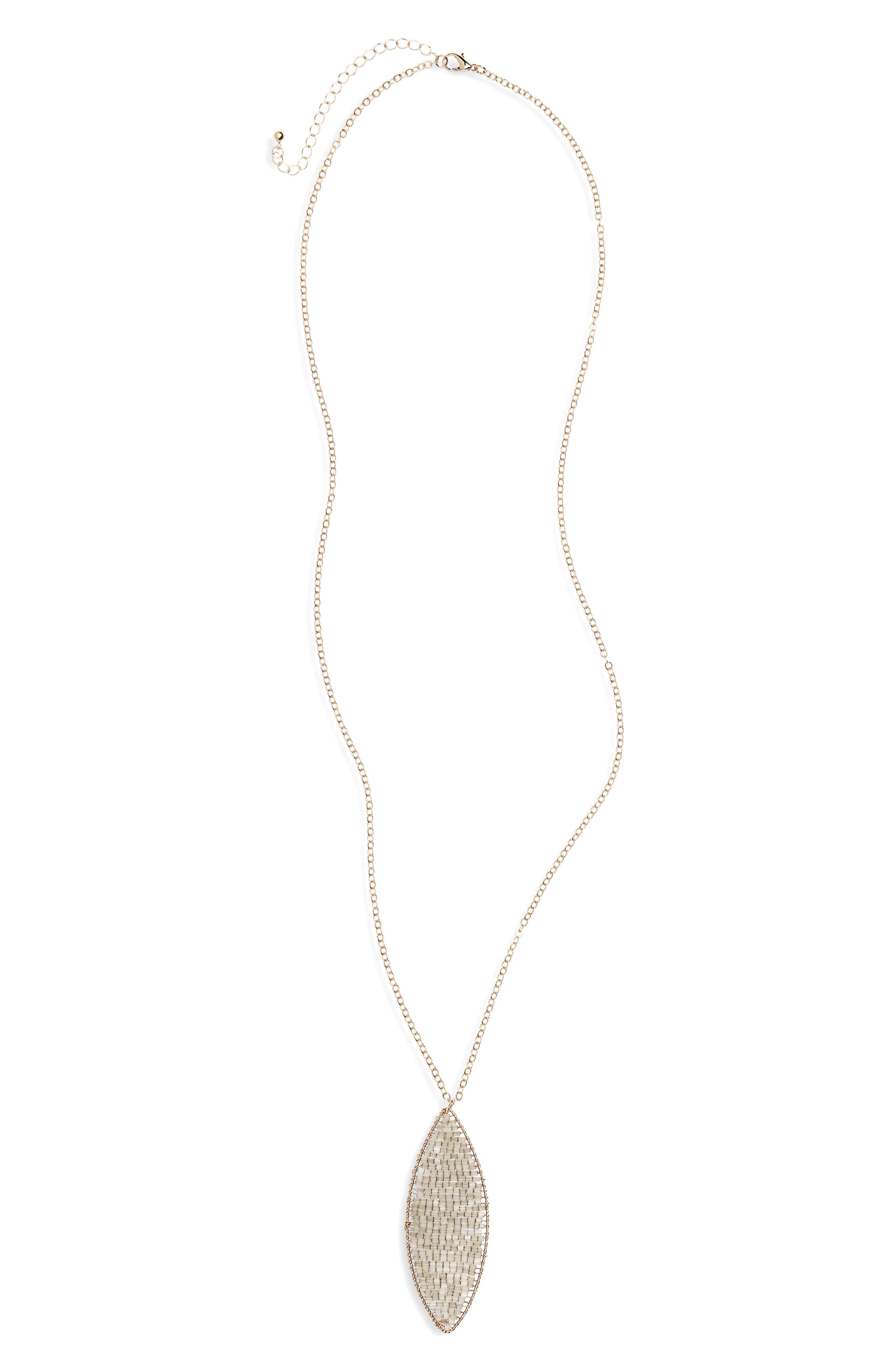 PANACEA Beaded Pendant Necklace