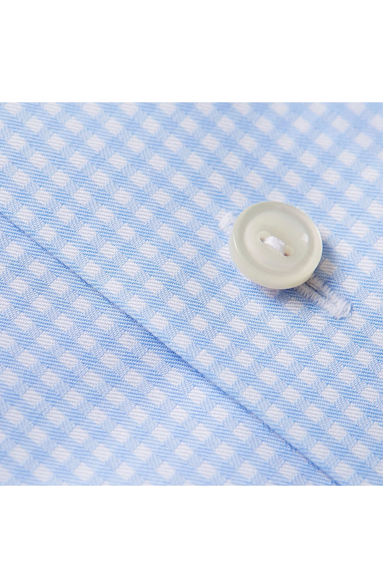 Contemporary Fit Check Dress Shirt,                             Alternate thumbnail 3, color,                             Blue