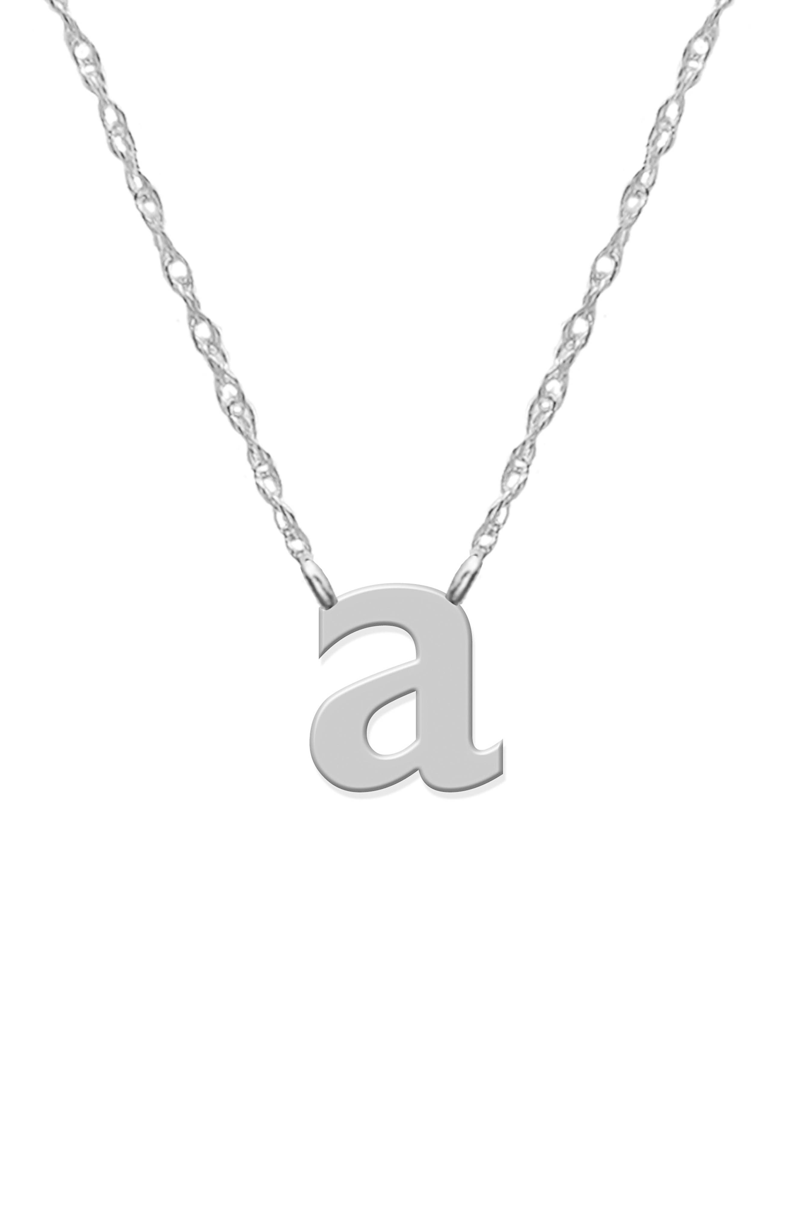 Main Image - Jane Basch Designs Initial Pendant Necklace