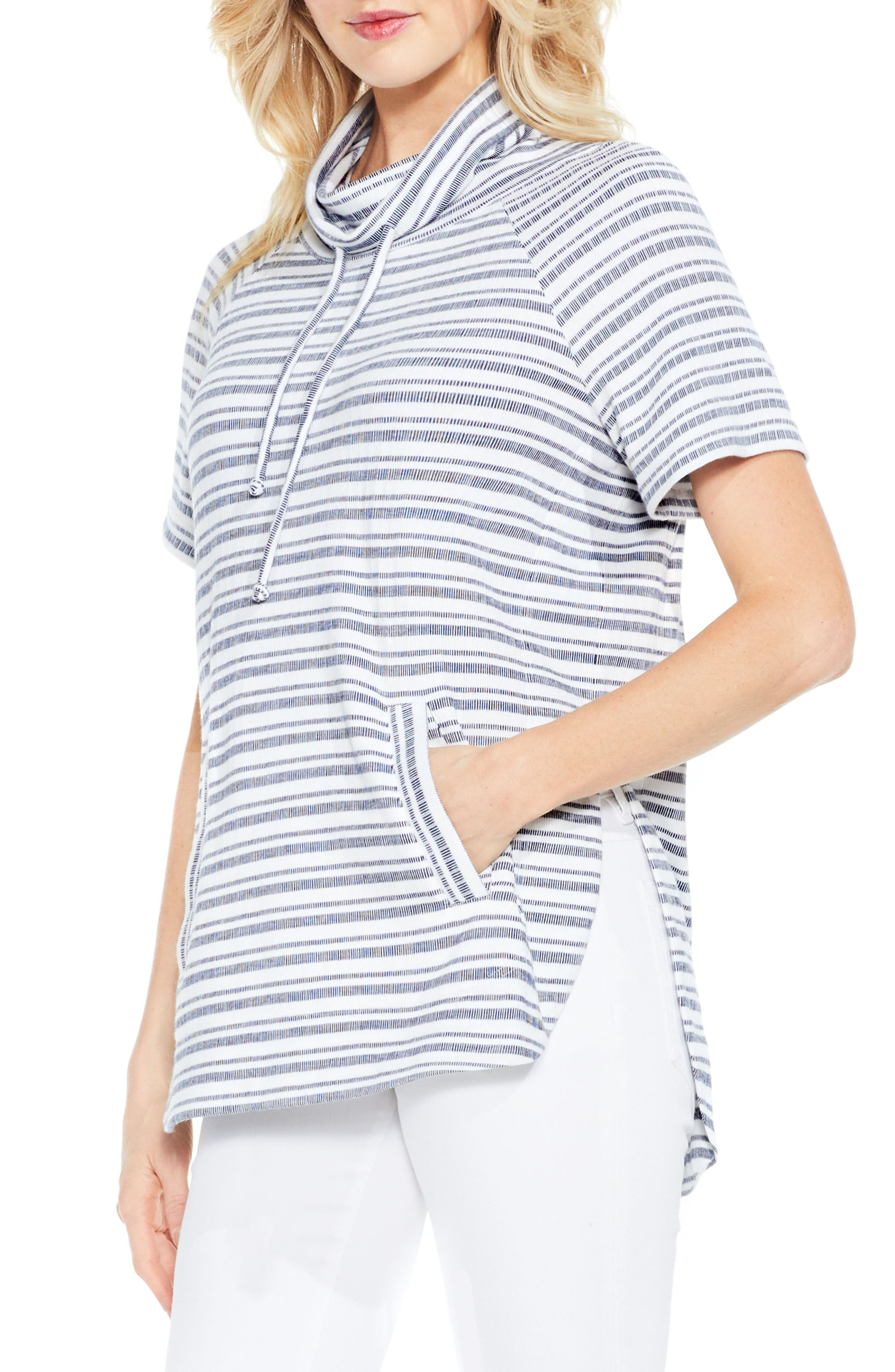 TWO BY VINCE CAMUTO Variegated Stripe Pullover