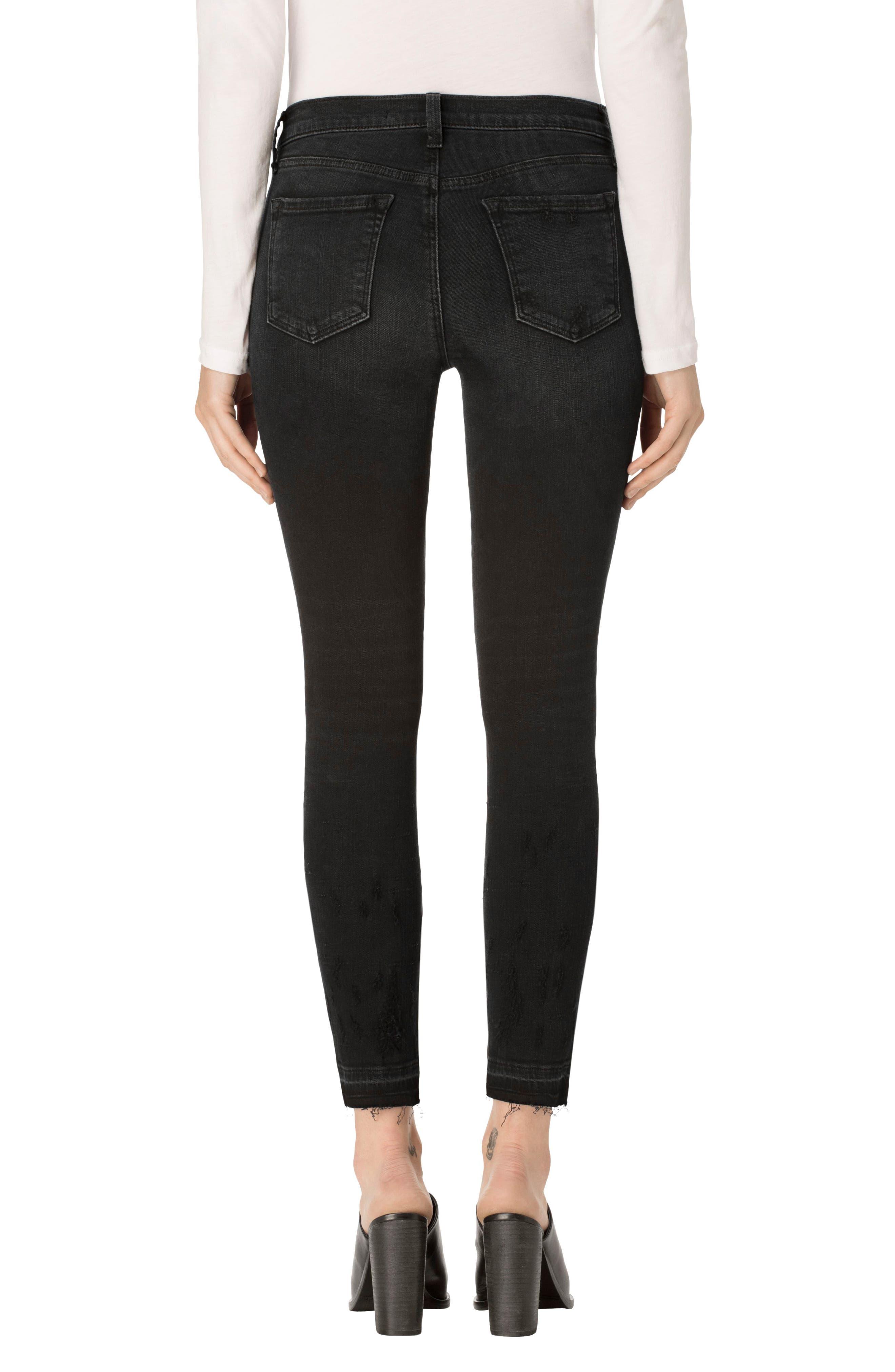 Alternate Image 2  - J Brand 835 Released Hem Crop Skinny Jeans (Corrupted)