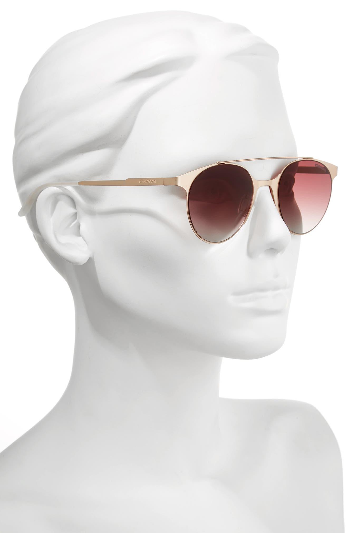 Alternate Image 2  - Carrera Eyewear 50mm Gradient Round Sunglasses