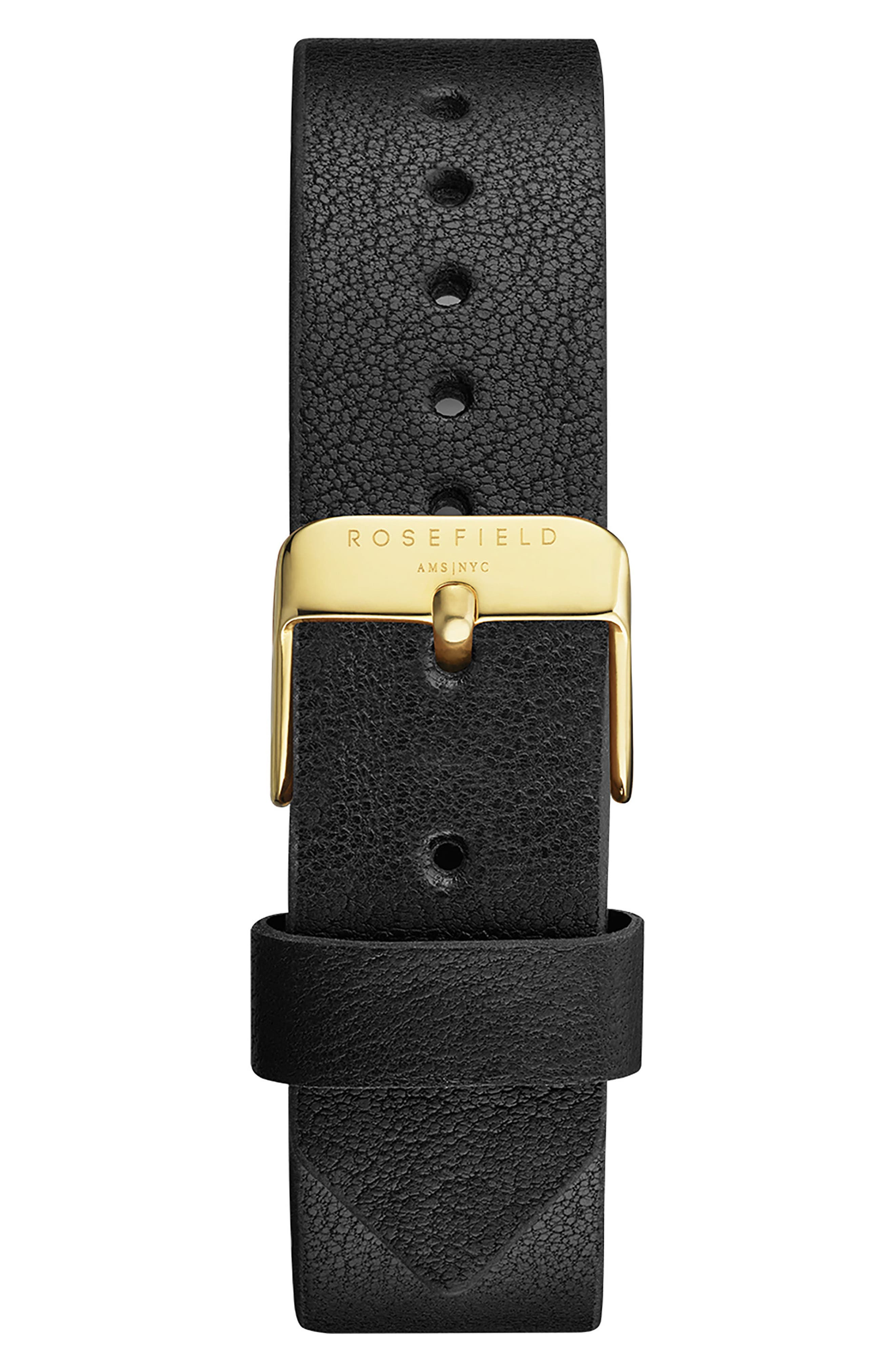 Gramercy Leather Strap Watch, 38mm,                             Alternate thumbnail 2, color,                             Black/ Gold