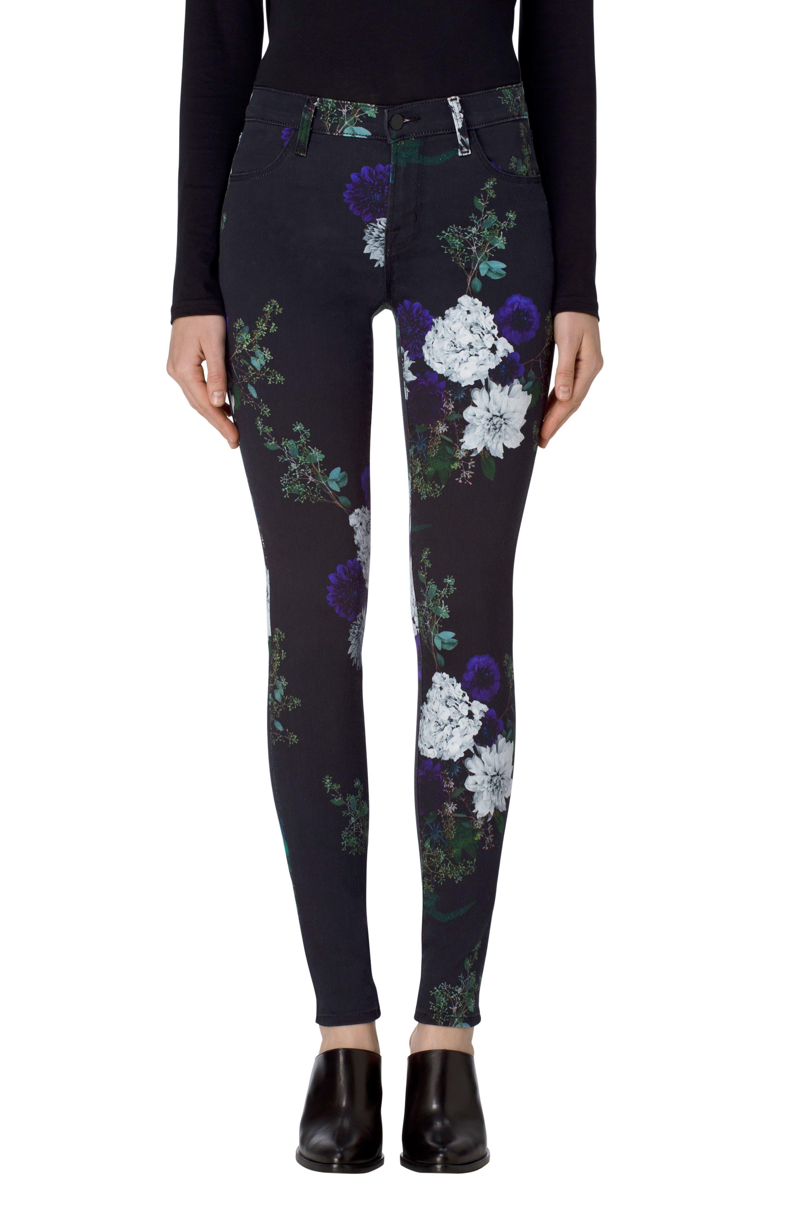 Alternate Image 1 Selected - J Brand 620 Mid Rise Super Skinny Jeans (Forest Floor)
