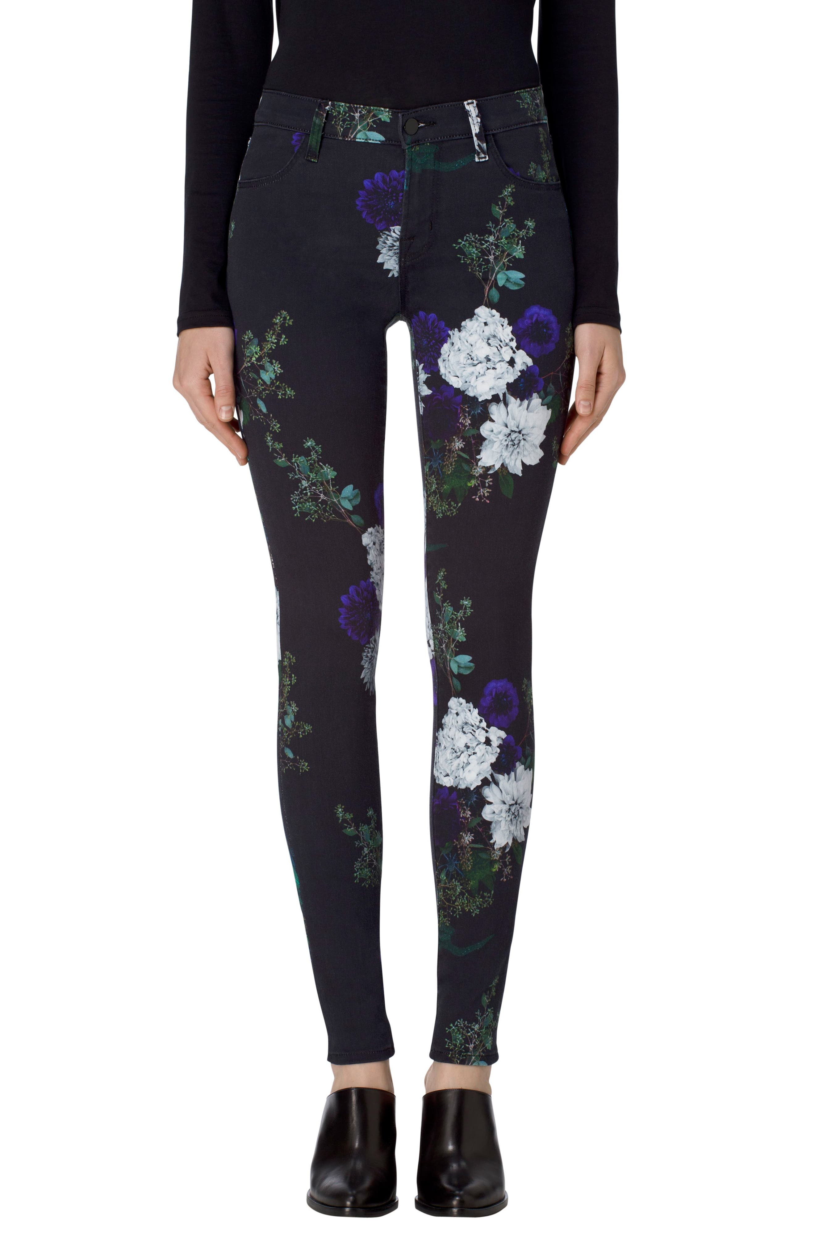 Main Image - J Brand 620 Mid Rise Super Skinny Jeans (Forest Floor)